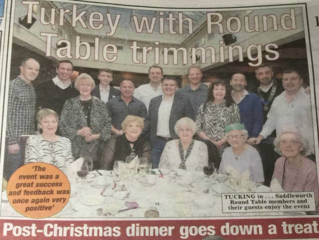 Turkey & Tinsel thanks to the Saddleworth Round Table