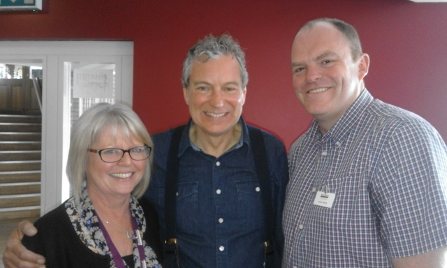 Anne and Andrew with John Middleton - Emmerdale