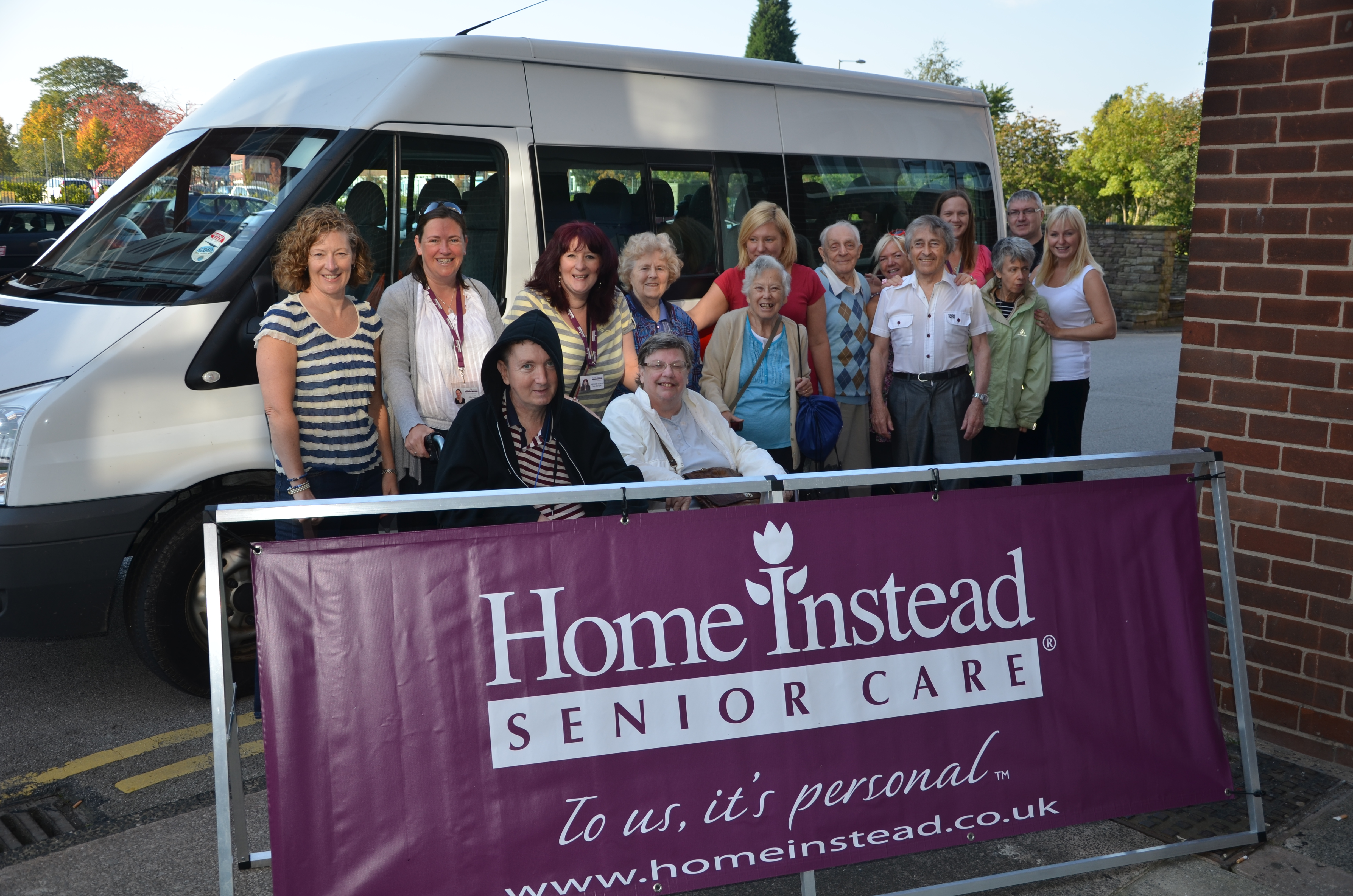 Home Instead Stockport clients and CAREgivers on their way to the Chester Zoo