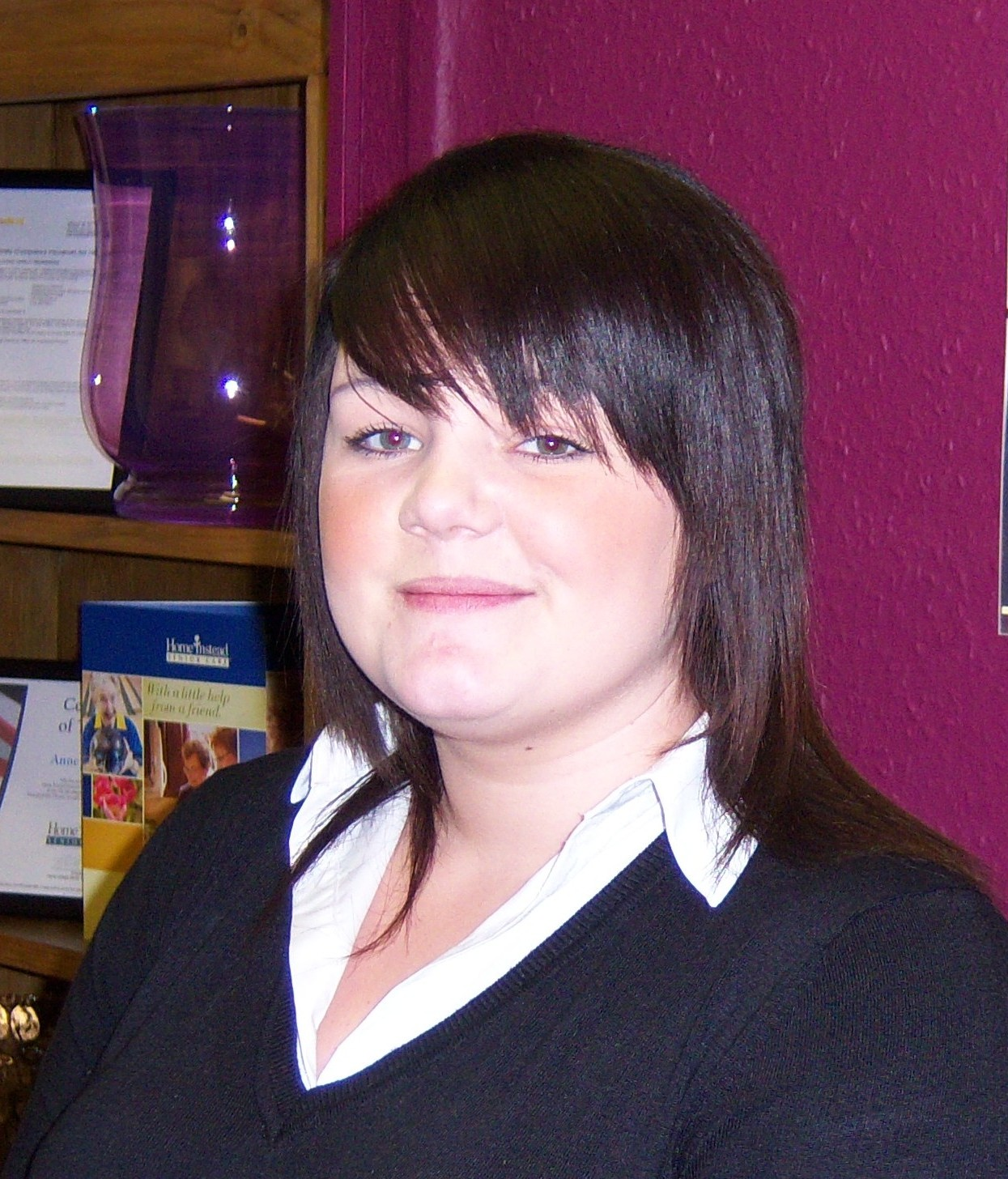 Home Instead Senior Care Newcastle and Stoke new apprentice, eighteen year-old Chelsea Mincher