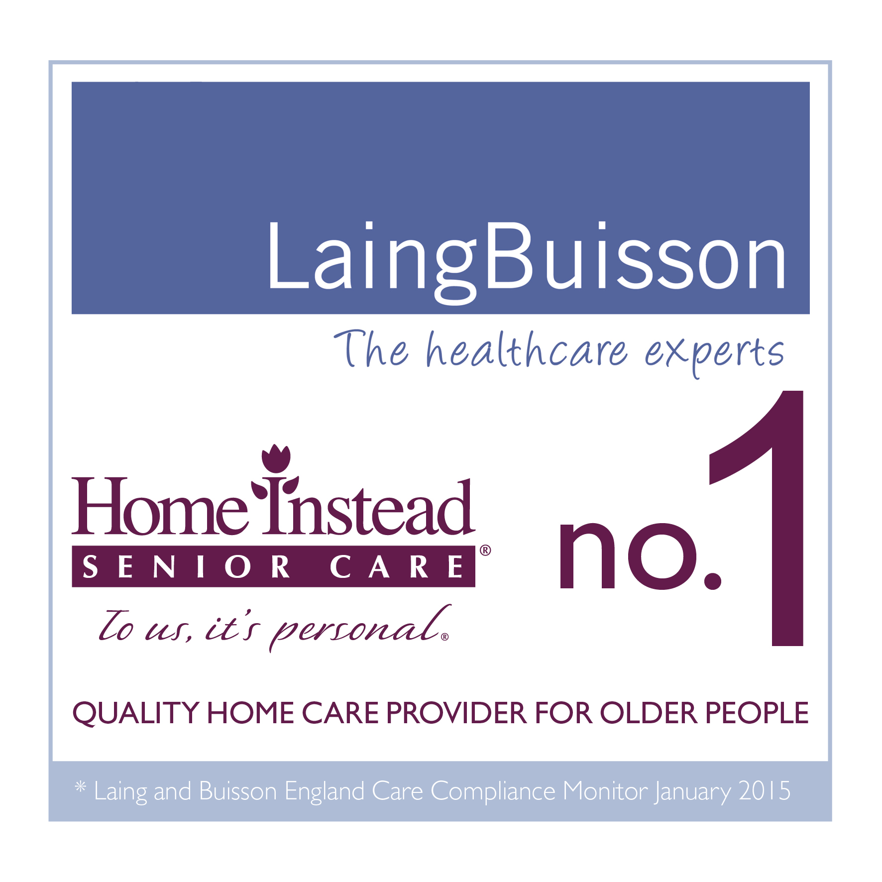 Once again, Home Instead is leading as the no.1 homecare provider for the elderly, according to Laing Buisson