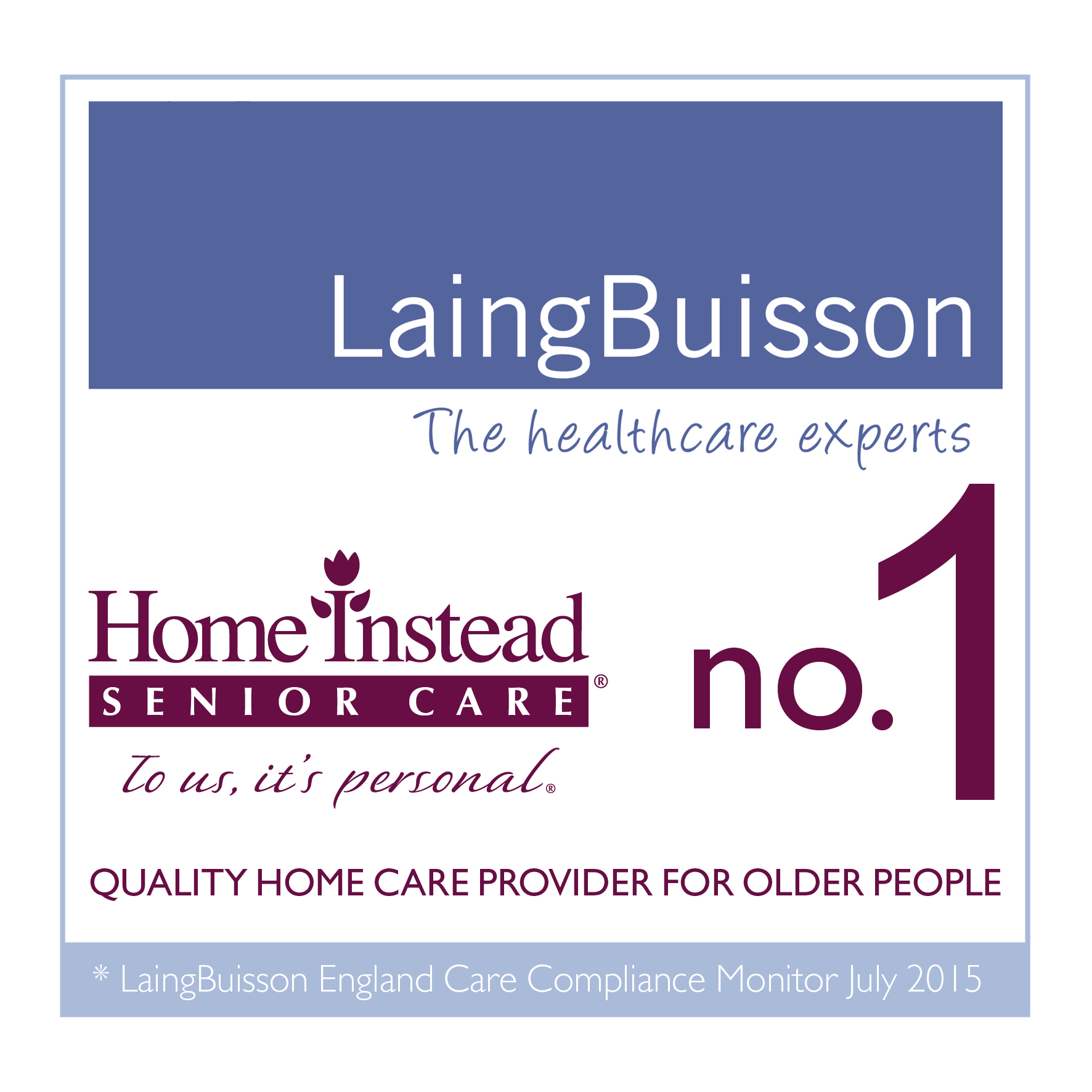 LaingBuisson no.1 Quality Home Care Provider for Older People logo