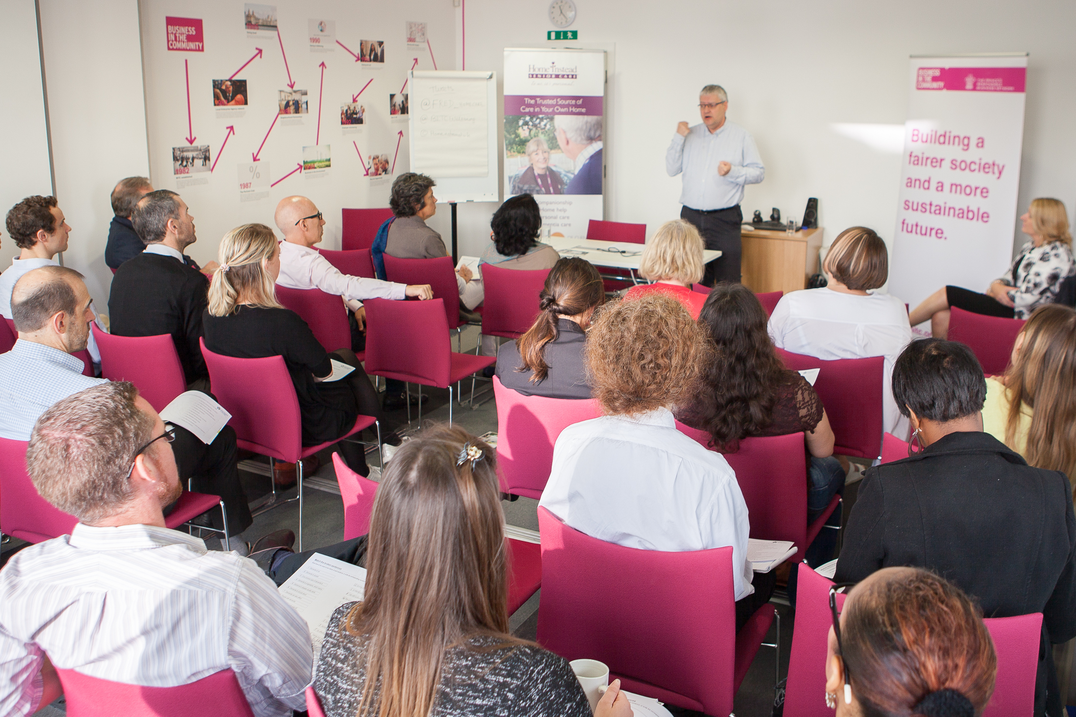 40 employees from Business in the Community (BITC) during a Home Instead Senior Care bespoke training session held at the business–led charity's London headquarters
