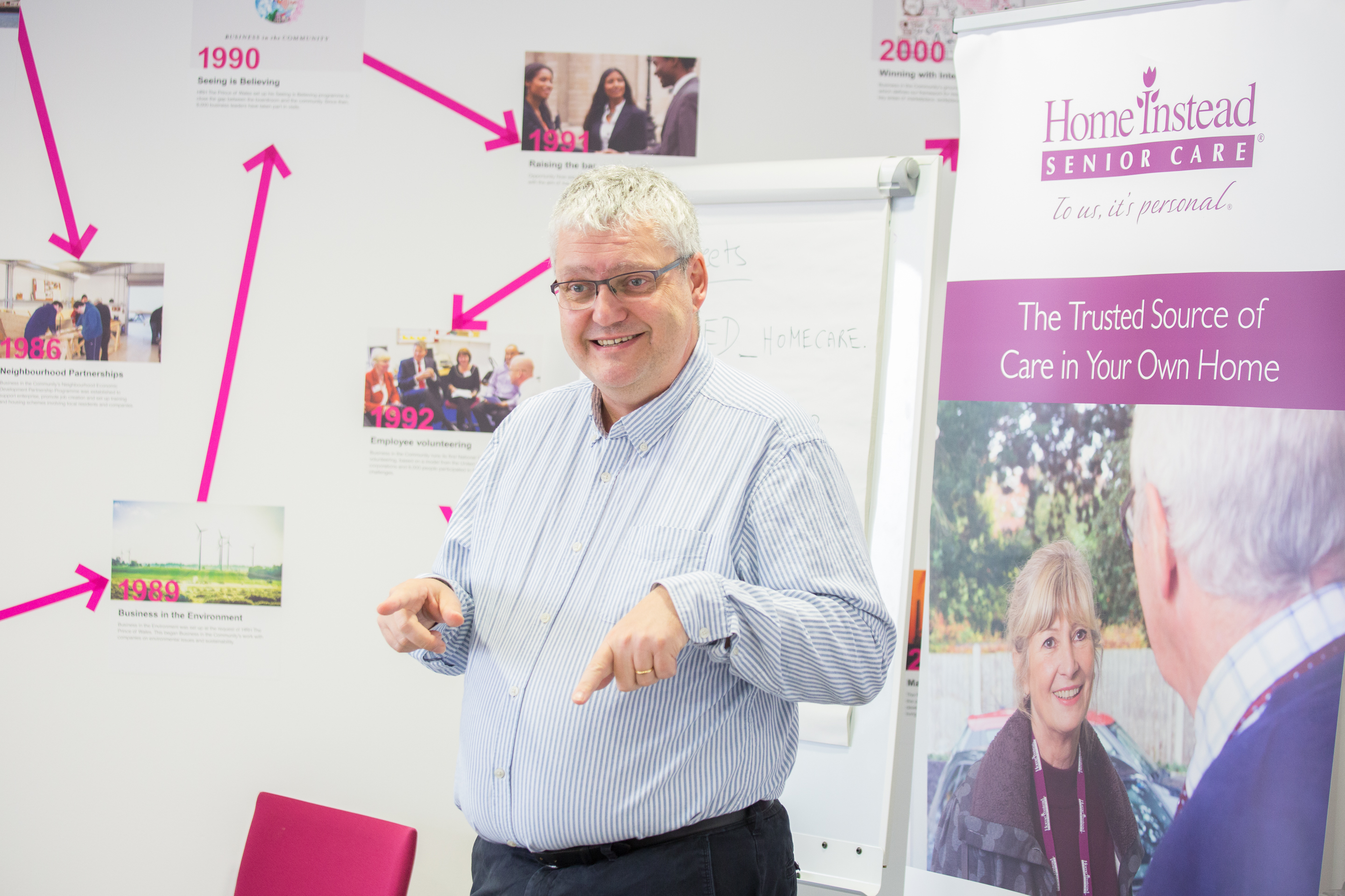 leader giving talk about Home Instead award winning homecare