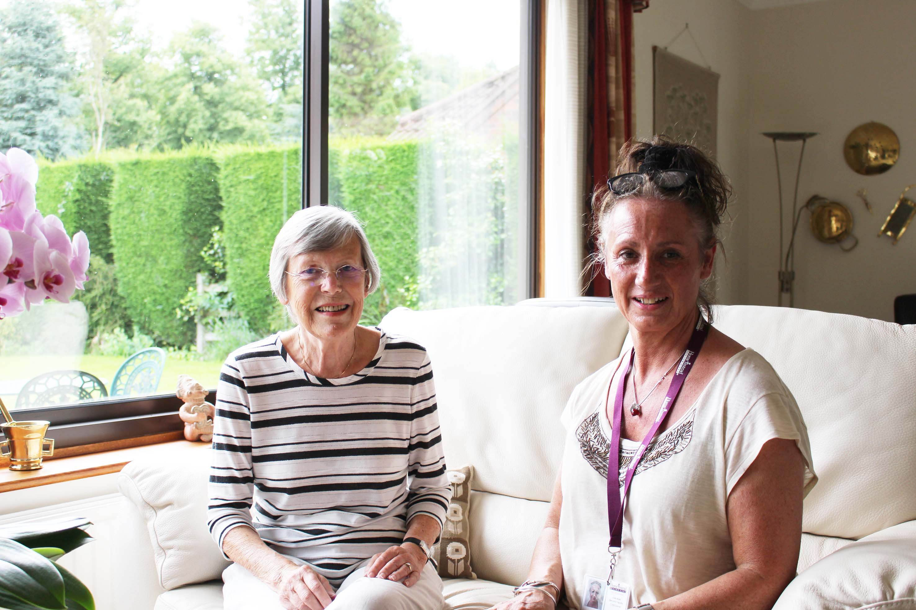 Home Instead East Nottingham and Melton Mowbray CAREgiver providing home care to an elderly client