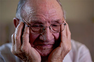 Elderly man in need for personal at-home care
