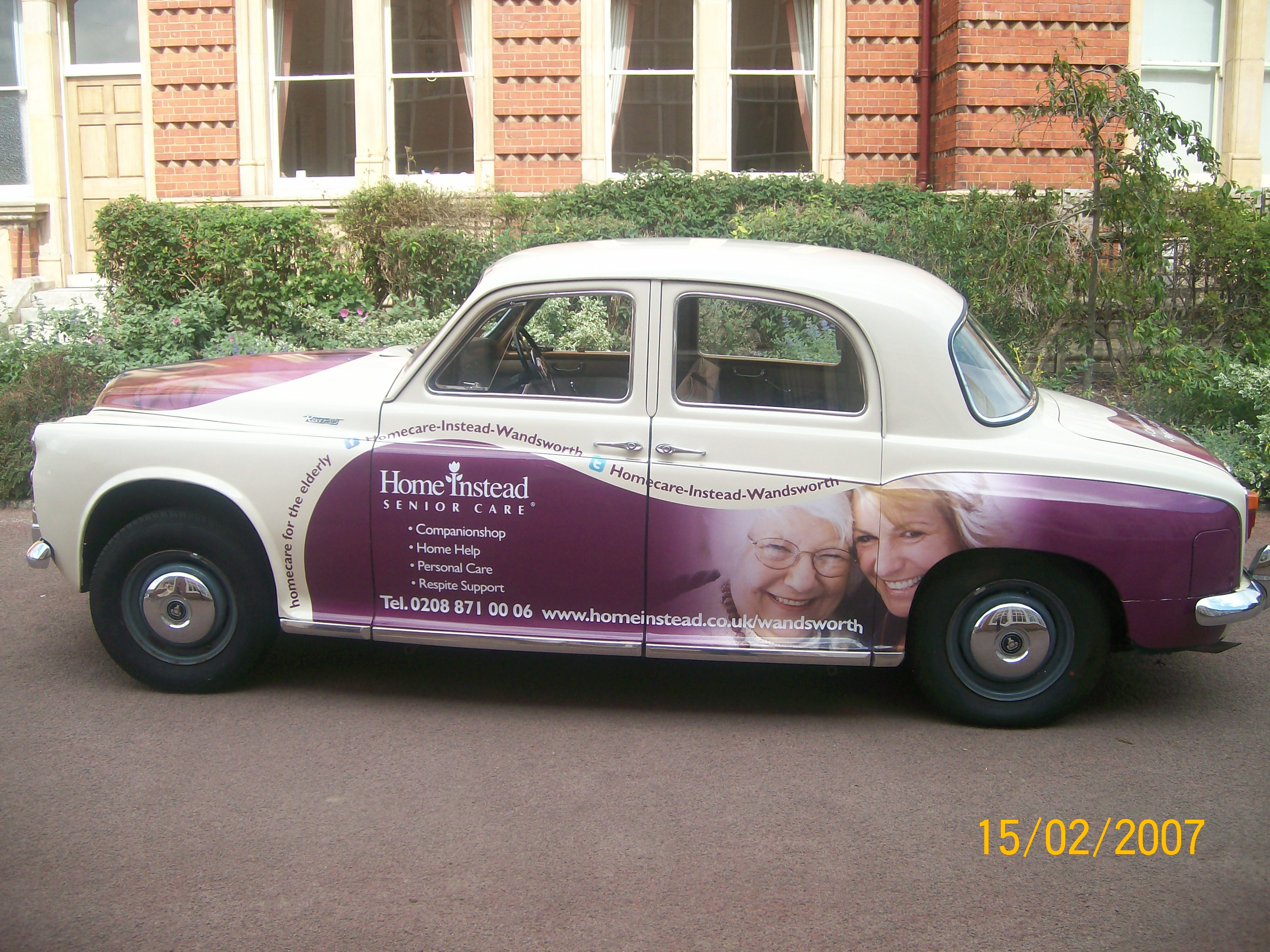 Home Instead Wandsworth car after the makeover in 2007