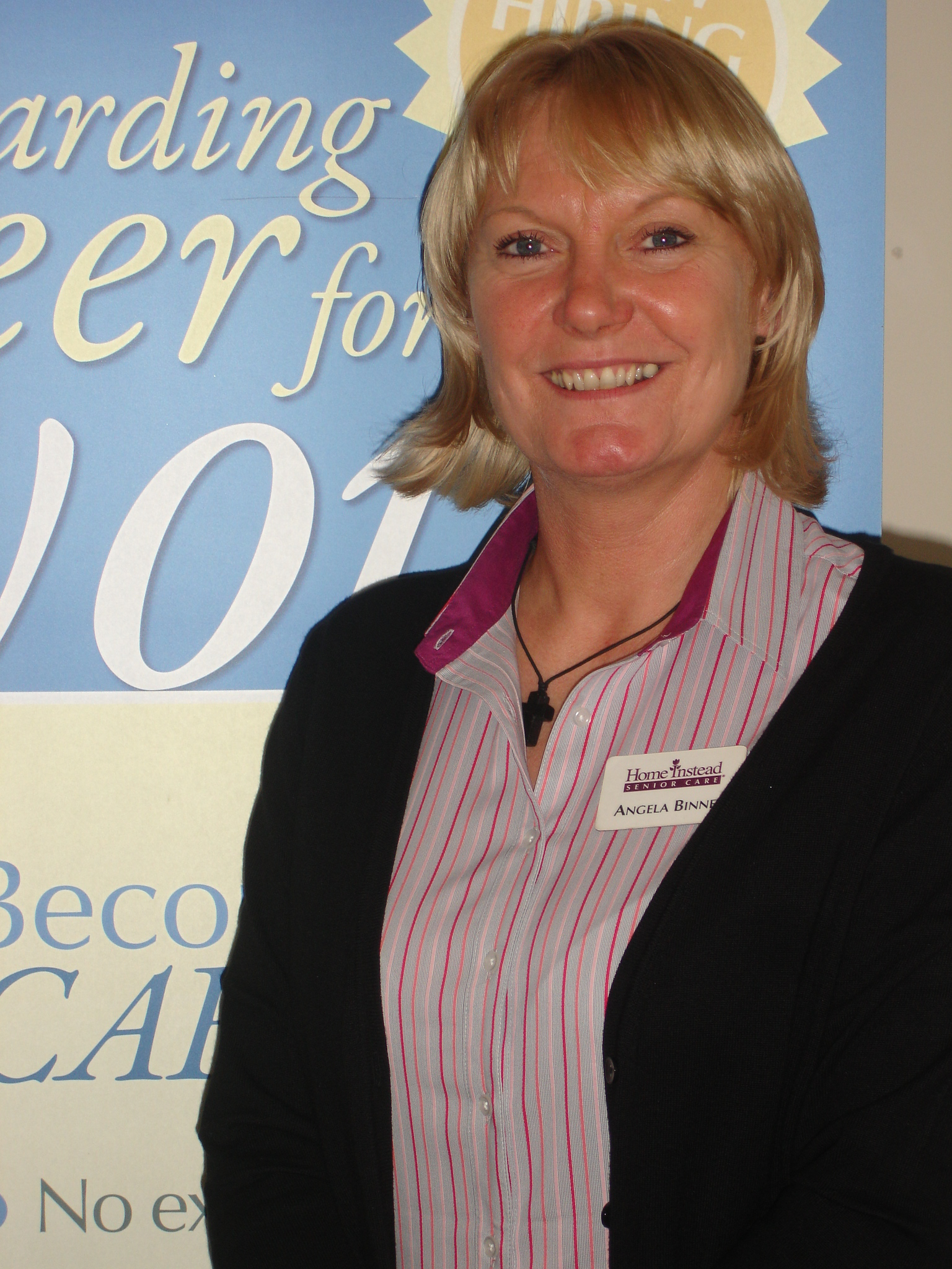 "Newly appointed ""Dementia Champion"" Angela Binney from Home Instead Senior Care in Barnsley"