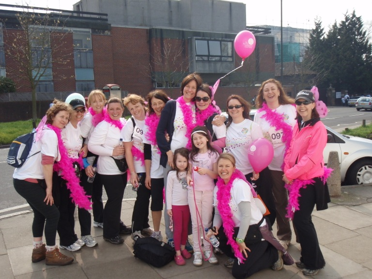 Home Instead Wimbledon and Kingston owner Clare Jeffries and her 'Angels and Divas' team raising funds for The Royal Marsden Cancer Charity