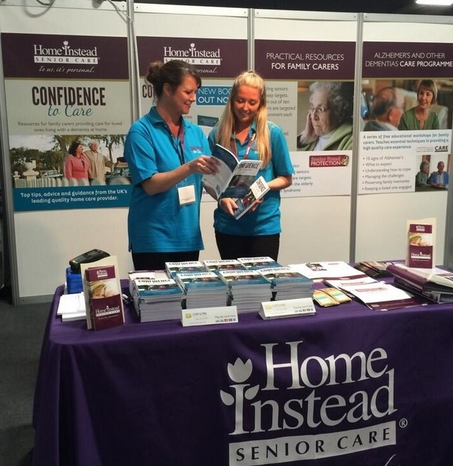 Home Instead Senior Care at the Alzheimer's Show launching their dementia care book, Confidence to Care