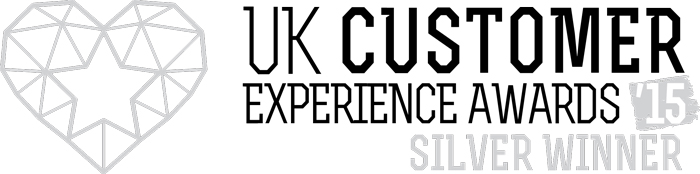 2015 UK Customer Experience Awards Silver Winner logo