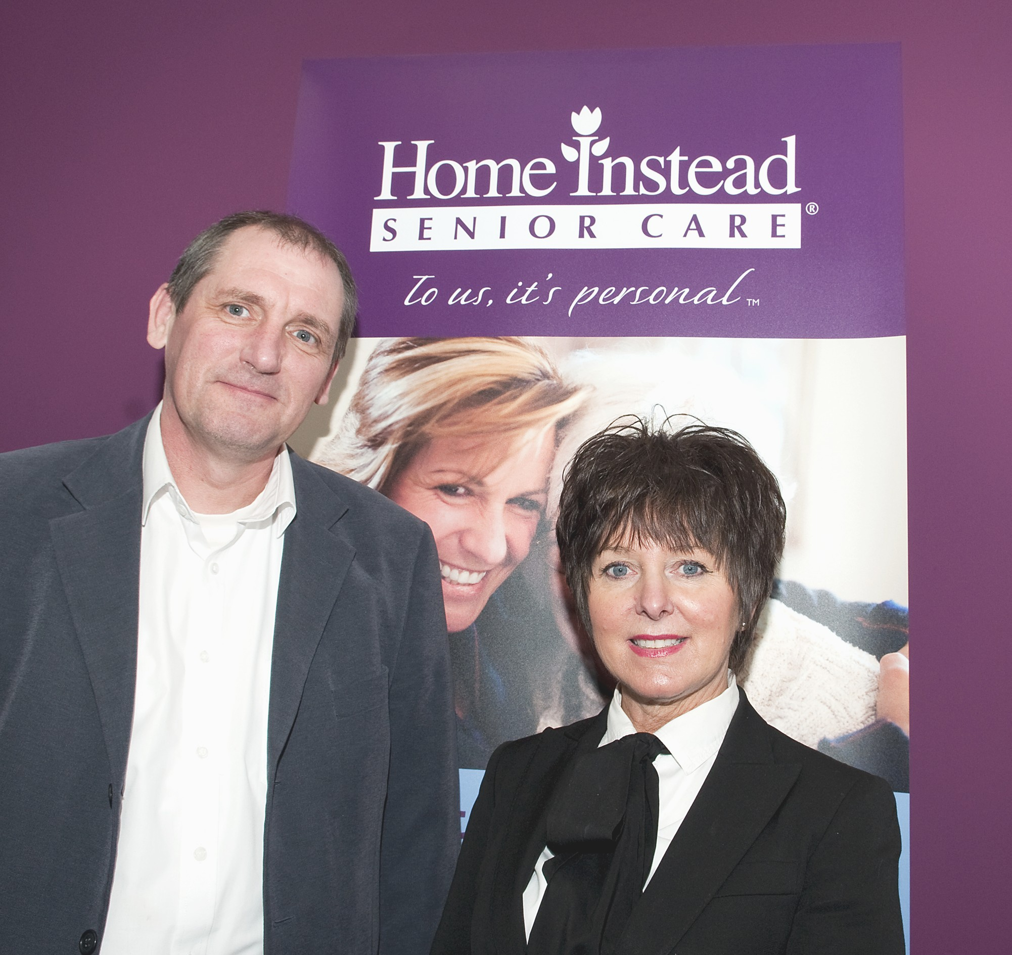 Home Instead Senior Care Rochdale owner David Bradshaw and Business Development Manager at RDA Julie Evans