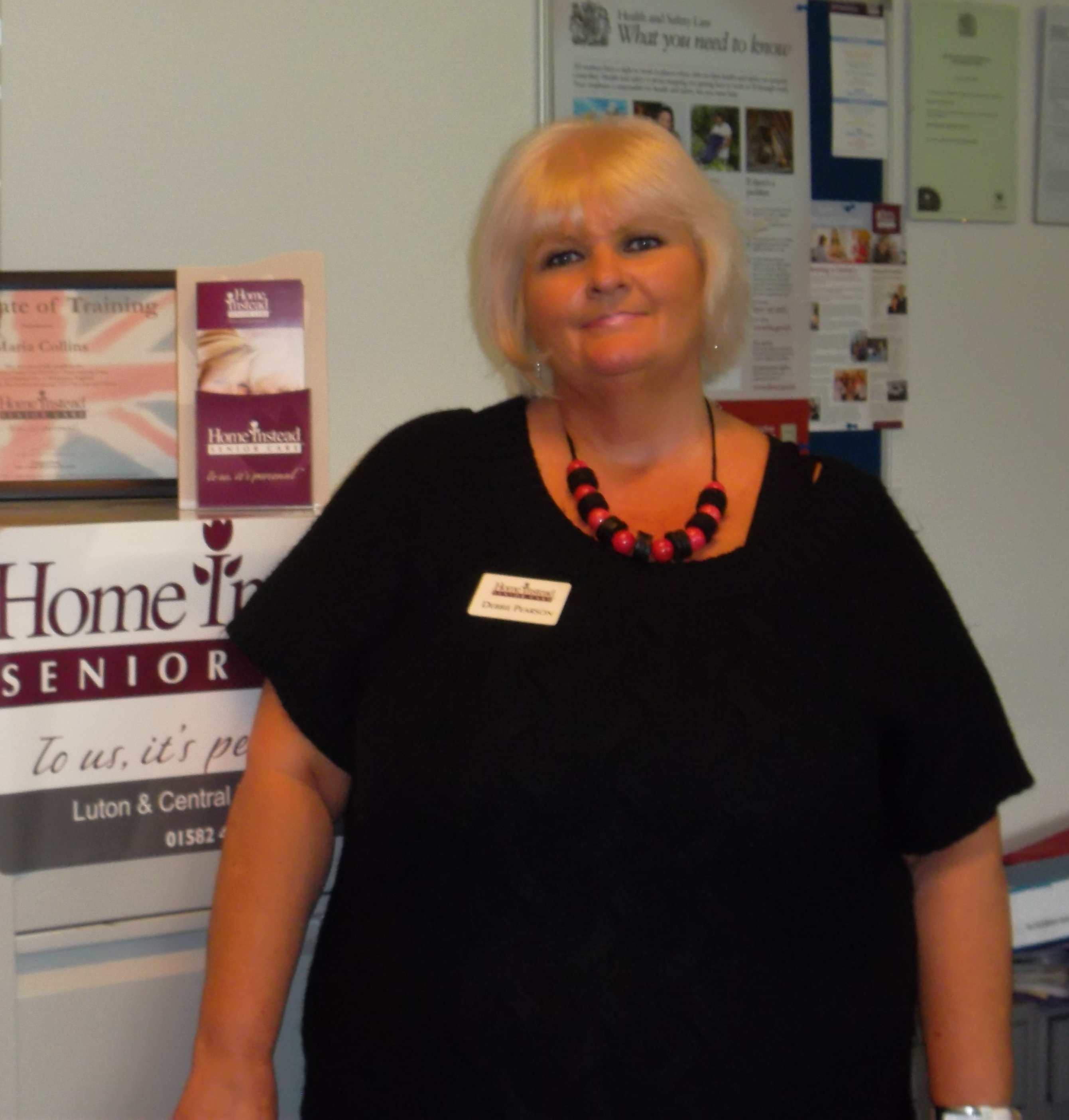Home Instead Senior Care Luton & Central Bedfordshire newly appointed Care Manager Debbie Pearson