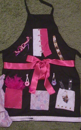 Home Instead CAREgiver Emma Needham's 'Dementia apron' she used while providing elderly home care to a client