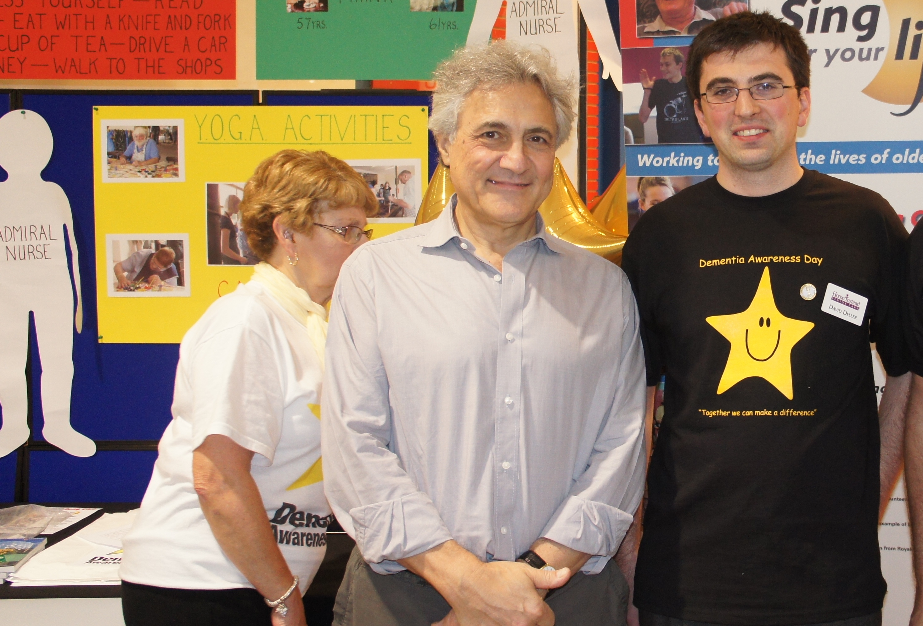 Home Instead Senior Care Bolton owner David Deller and Dementia UK president John Suchet