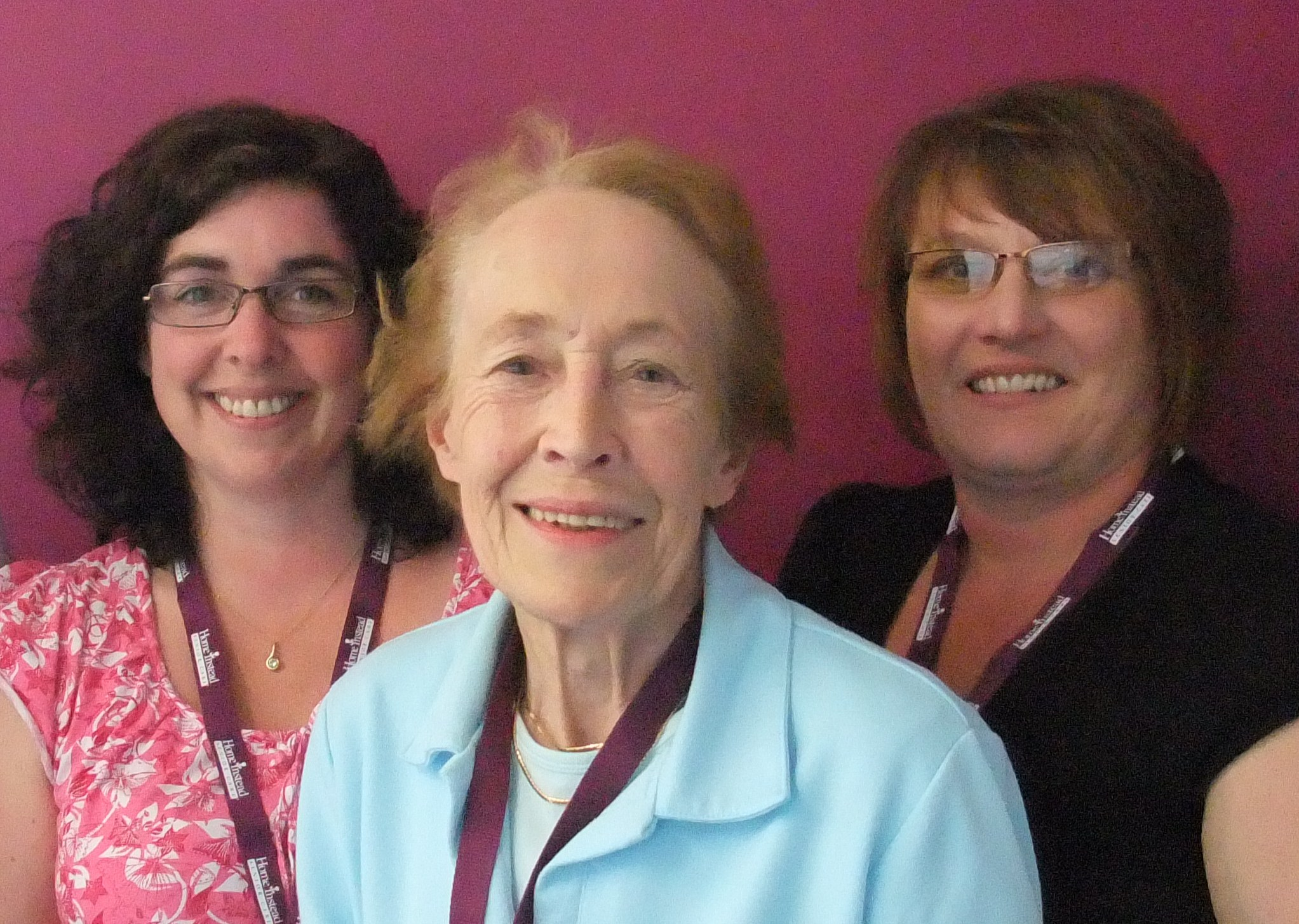 Home Instead Telford and Wrekin new CAREgiver recruits Jenny Grey, 77-year-old Dorothy Turner and Helen Cotteril