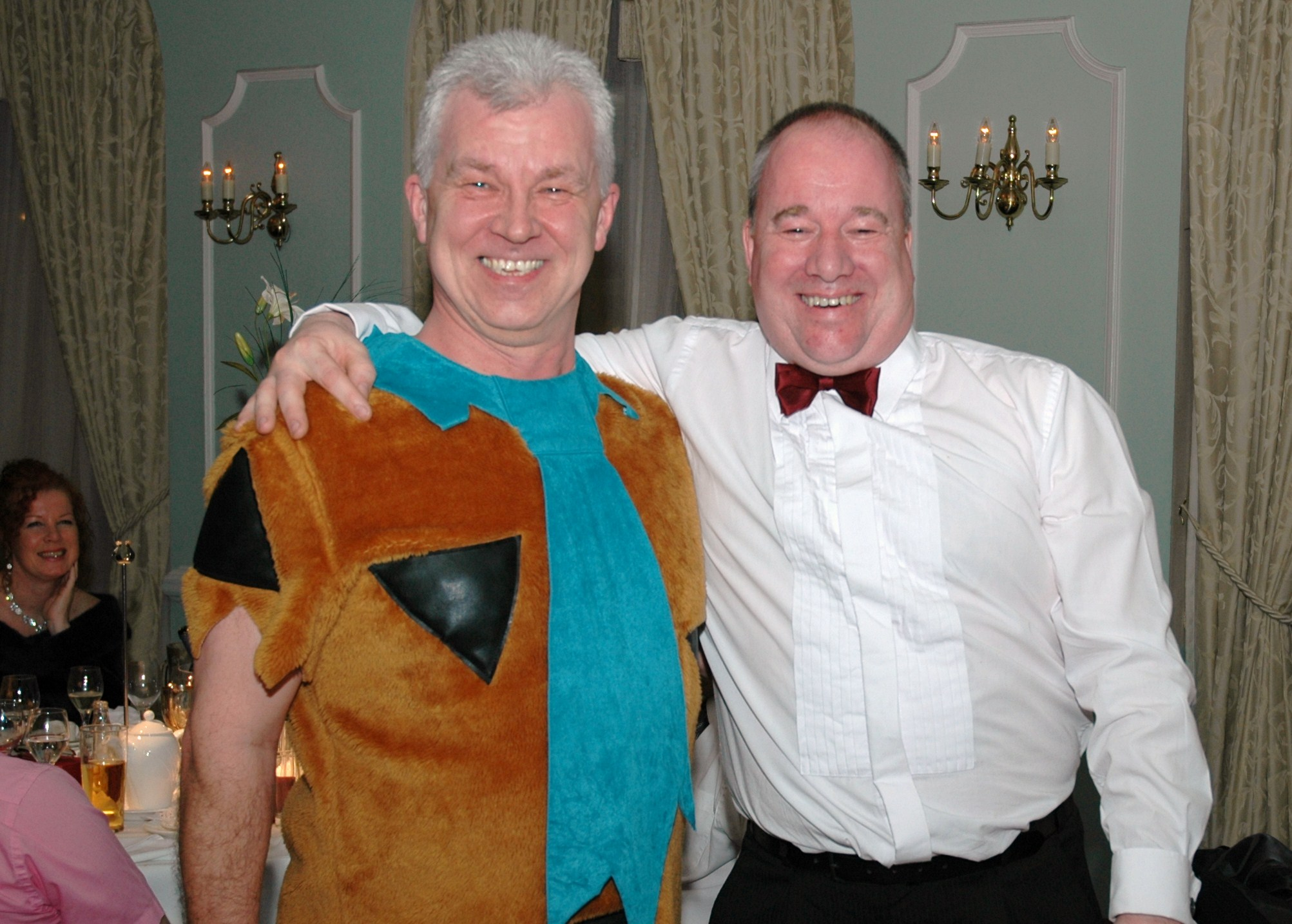 Home Instead Newcastle-under-Lyme owner Paul Edden and Phil Newell at the Westfield Sports Car Club dinner
