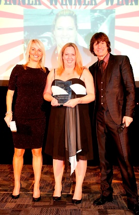 Home Instead East Northants Angela Burke holding her 'Home Care Coordinator' award