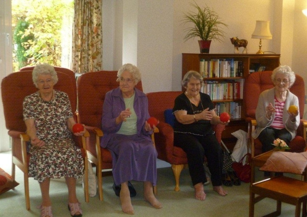 Elderly ladies at the Pilates class organised by Home Instead Senior Care St. Albans