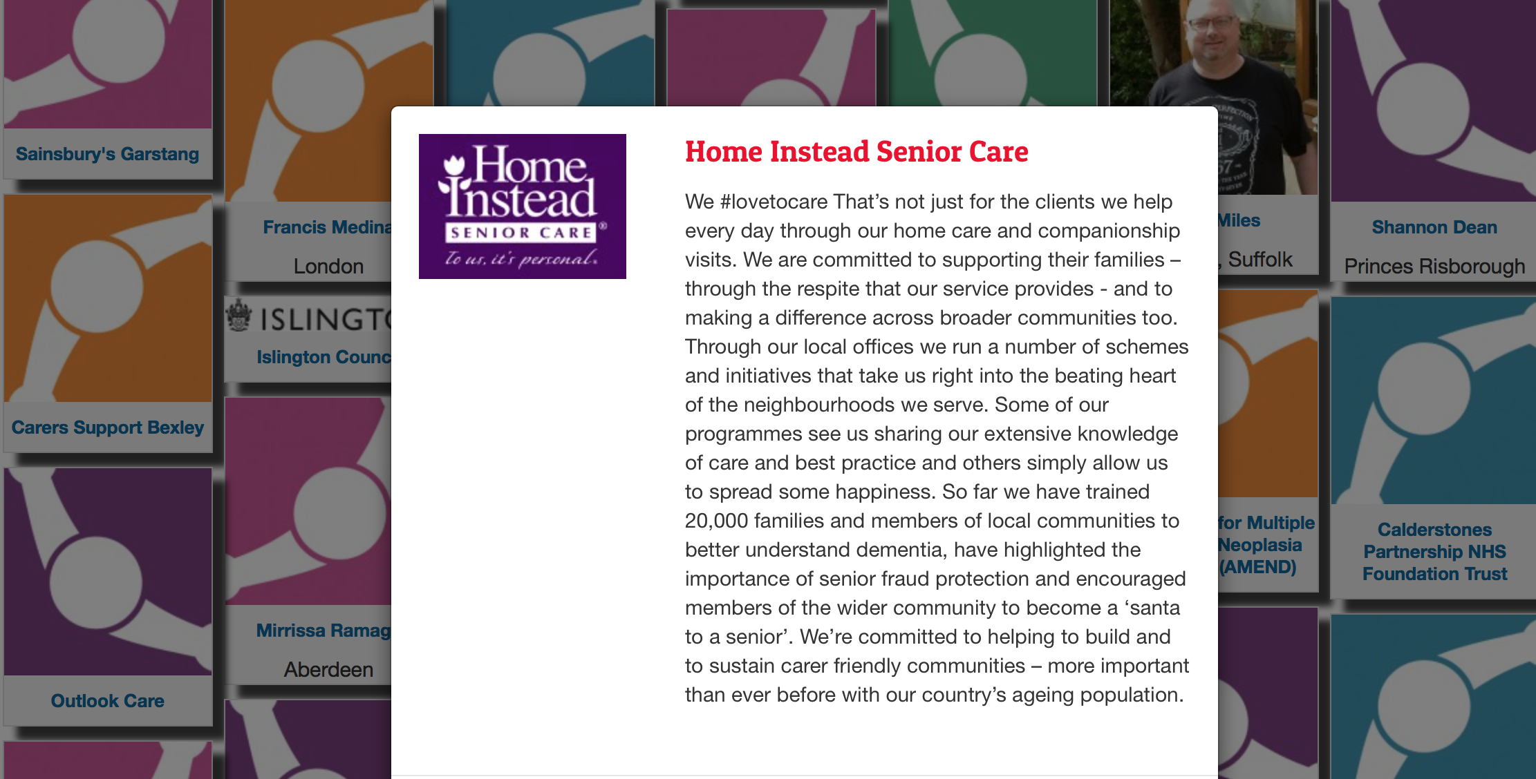 Home Instead Senior Care Carer's Week Pledge