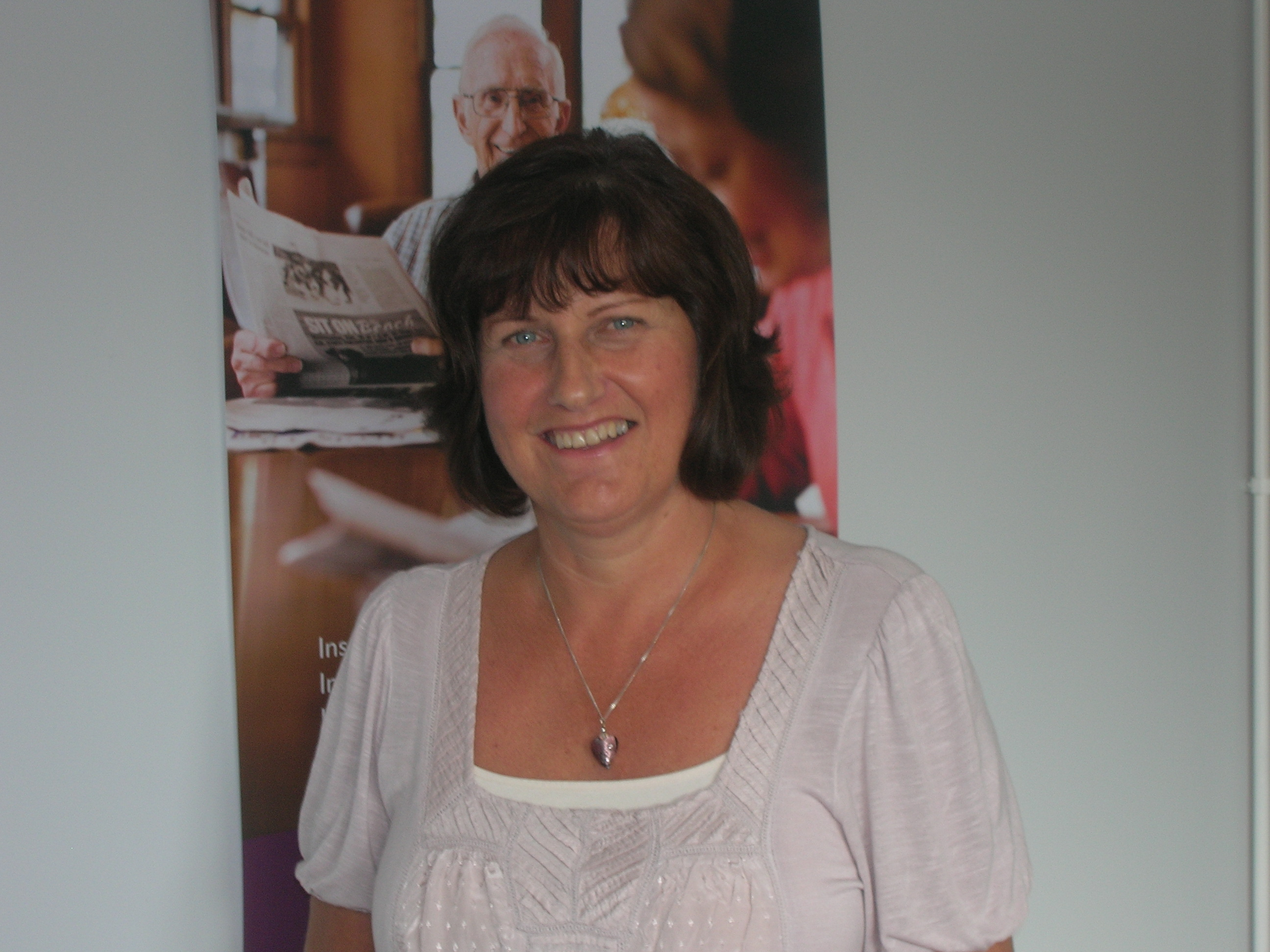 Home Instead Brentwood newly appointed office administrator Sue Reid