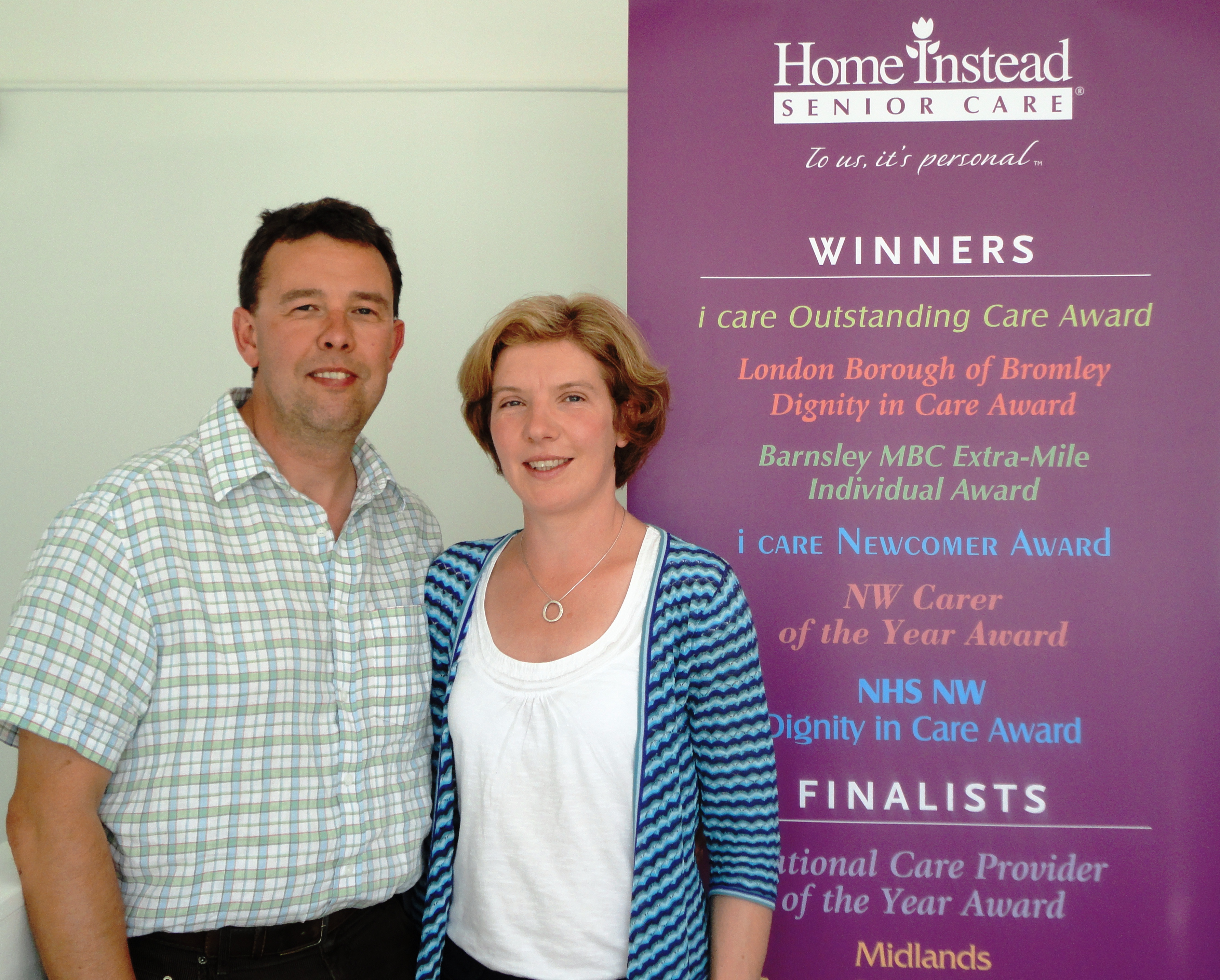 Home Instead Senior Care Edinburgh owners Andrew and Joanna Senew