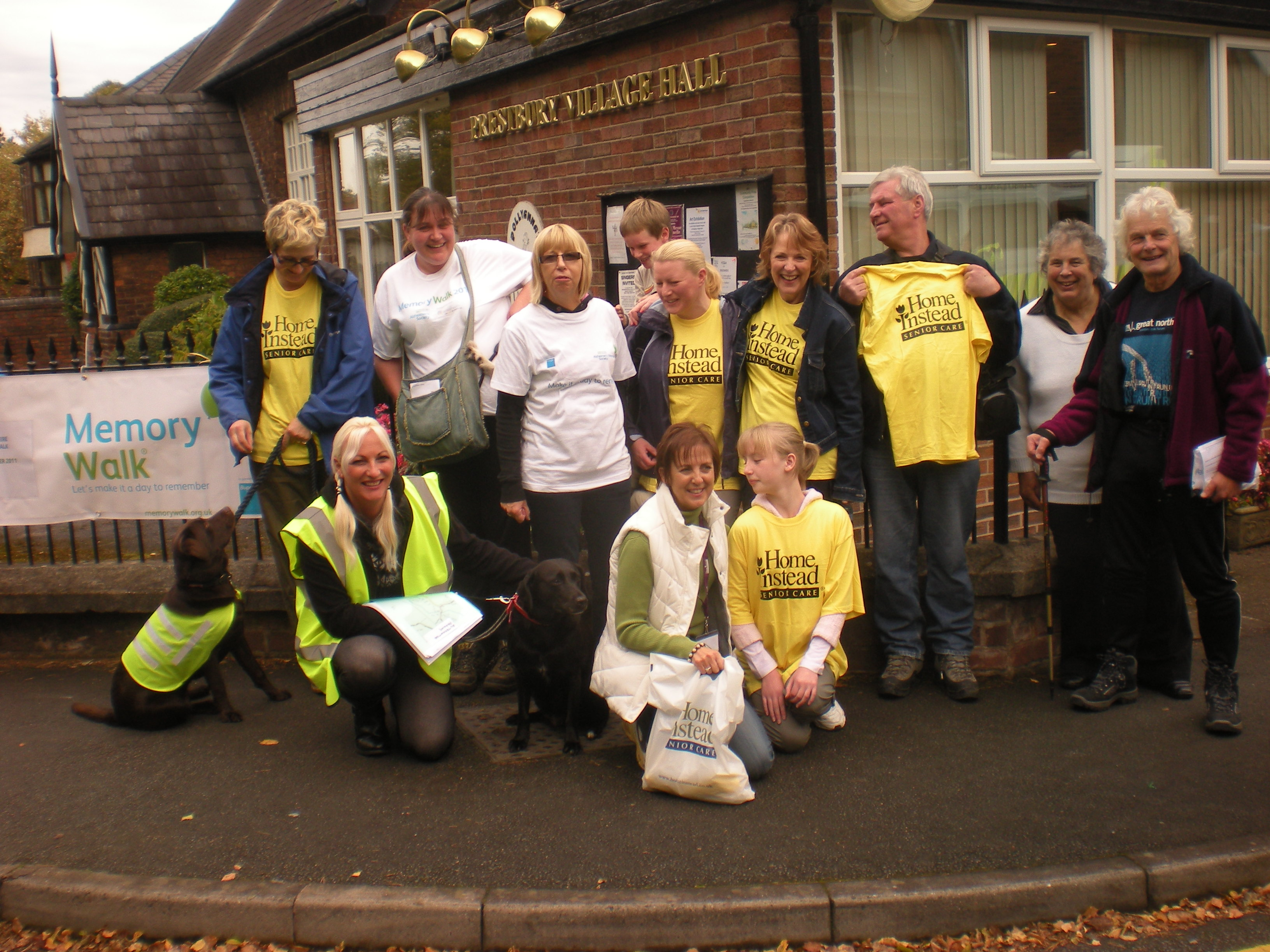 Home Instead Senior Care East Cheshire office team during the Alzheimer's Society annual Memory Walk