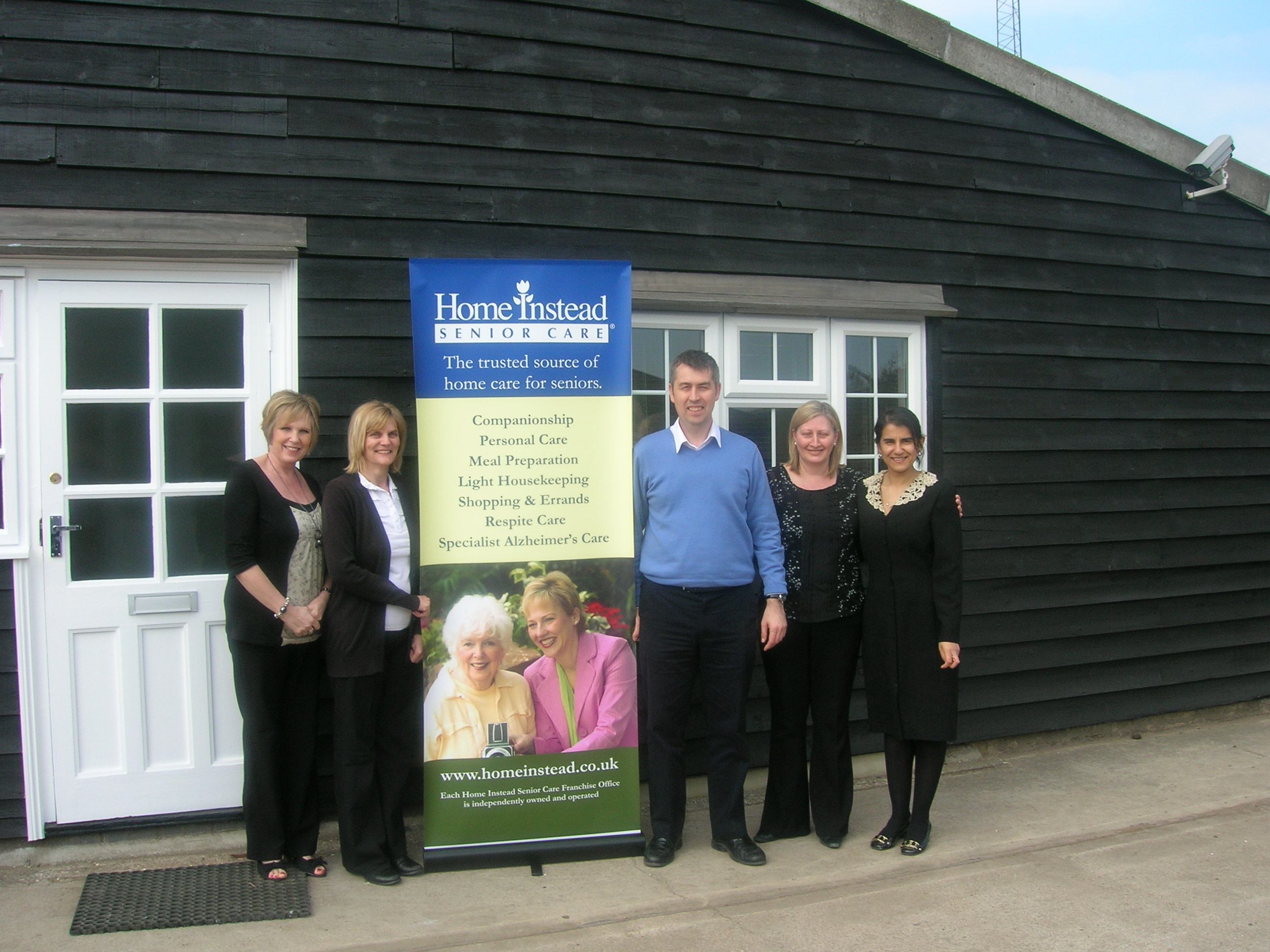 Home Instead Brentwood owner Steve Willoughby and team at Stubbers Farm in Blackmore