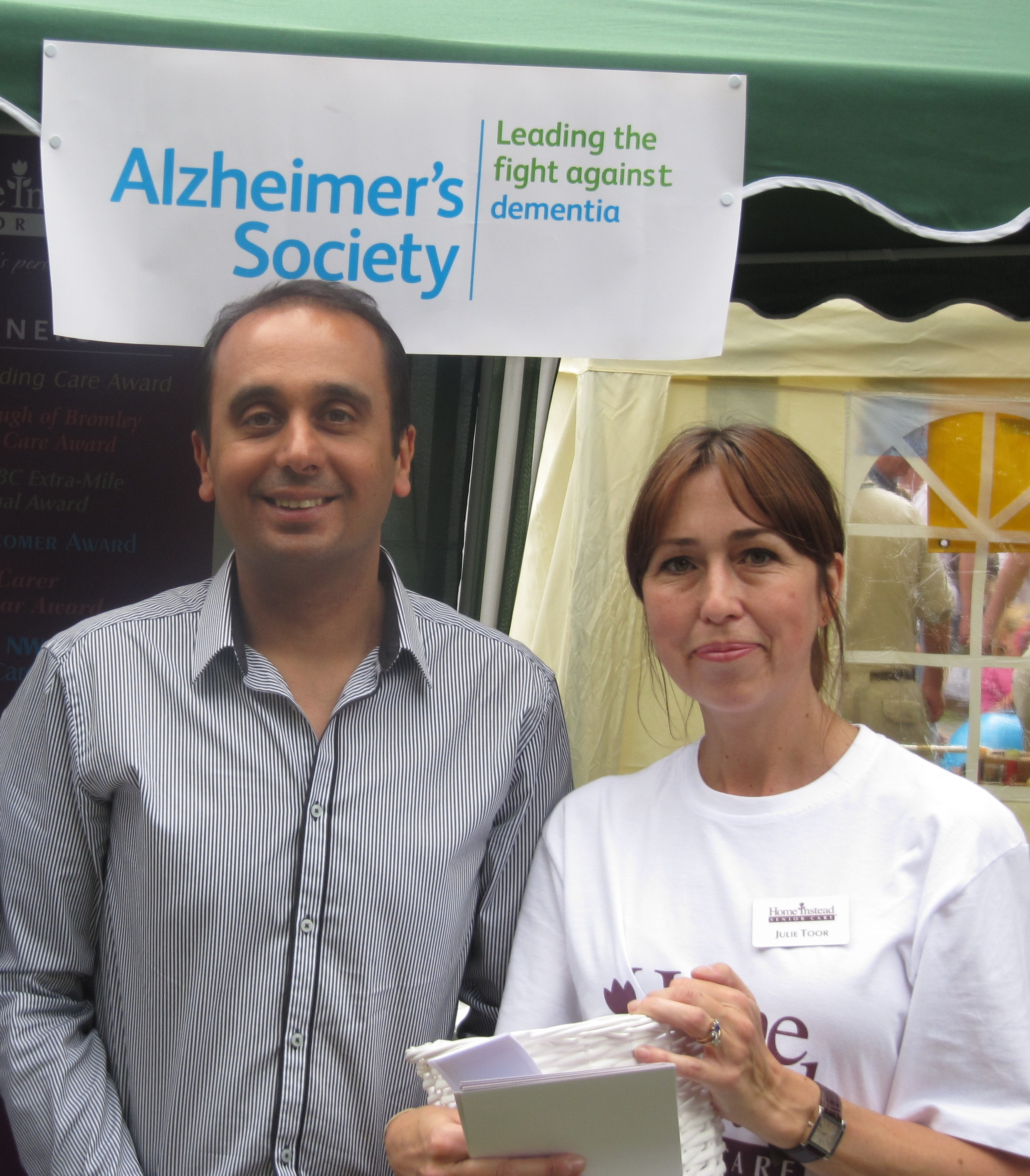 Local MP Paul Uppal and Home Instead Senior Care Wolverhampton owner Julie Toor