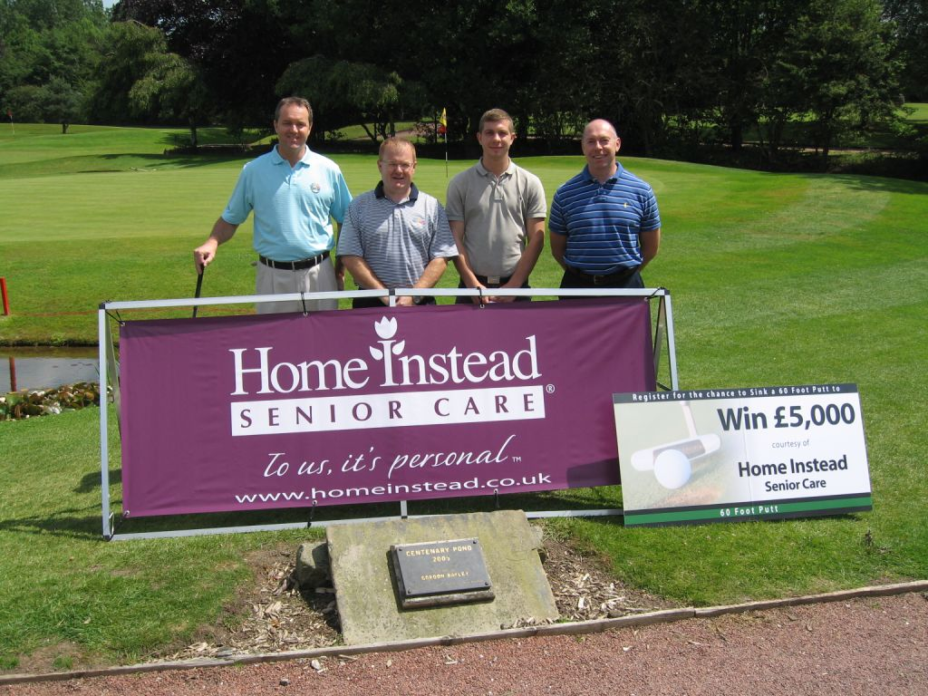 Home Instead team members Chris Moore, Ian Denby, Alex Mattison and Richard Ellis at the Beechwood Charity Golf event