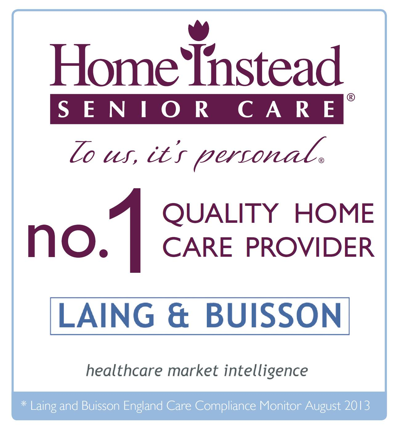 Home Instead's Laing & Buisson no.1 Quality Home Care Provider logo