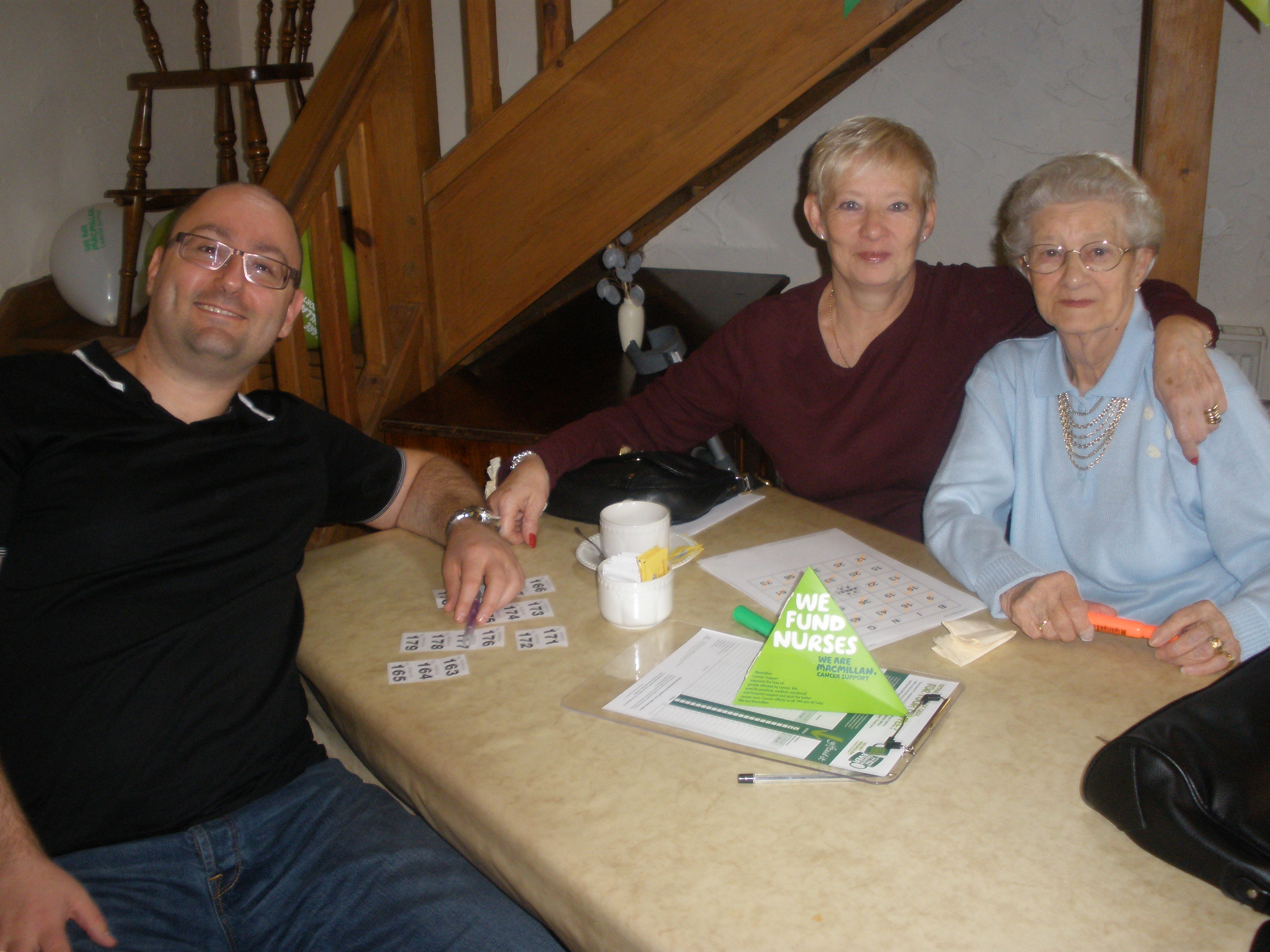 Home Instead Solihull team during the Macmillan coffee and cake morning