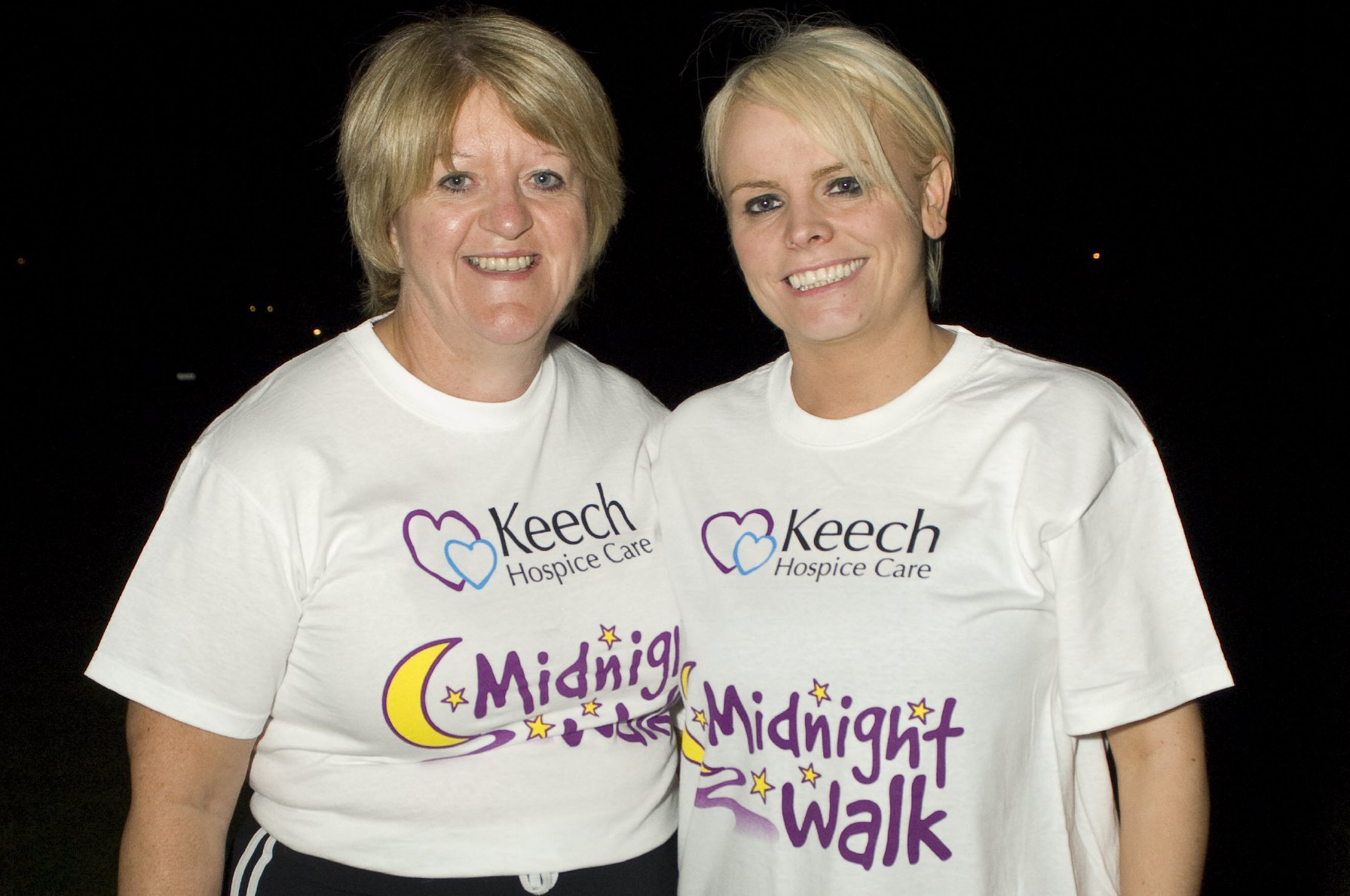Home Instead owner Maria Collins and daughter Debbie Collins at the Luton Midnight Walk