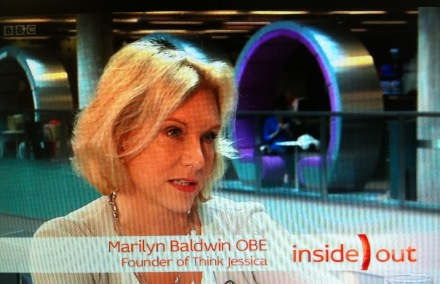 Think Jessica's owner Marilyn Baldwin on BBC Inside Out North West programme