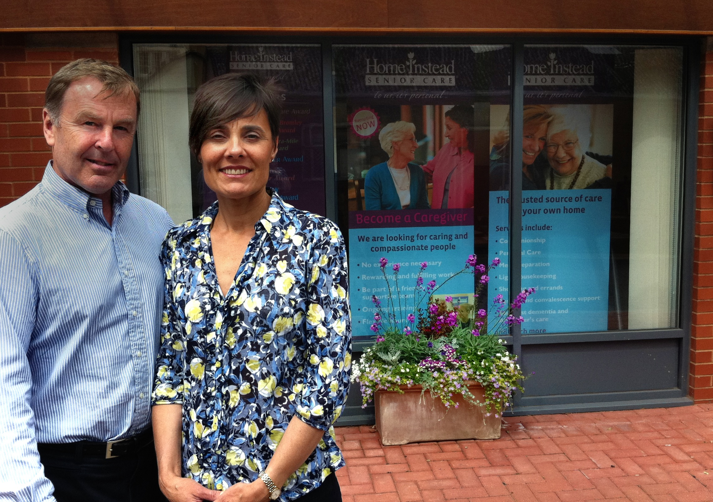 Home Instead Senior Care Exeter and East Devon owners Mark and Vanessa McGlade
