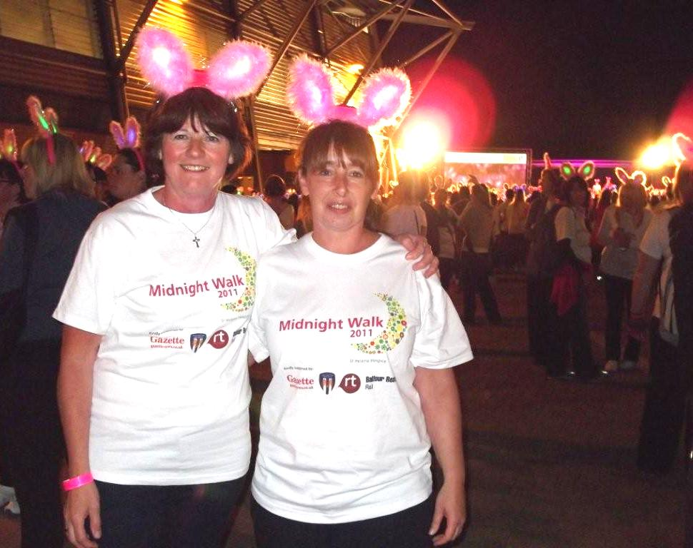 Home Instead Colchester Community services representative Stephanie Blackman and assistant care manager Julia Jayne at the Colchester Midnight Walk