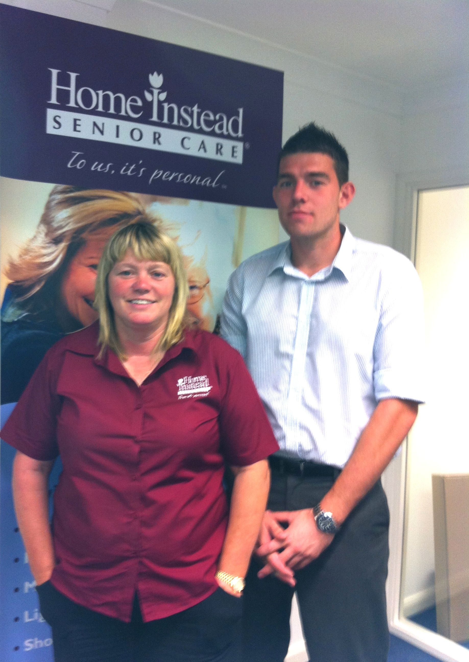 Home Instead Senior Care South Lincolnshire owner Jeanette McEwan and community service representative son Tom