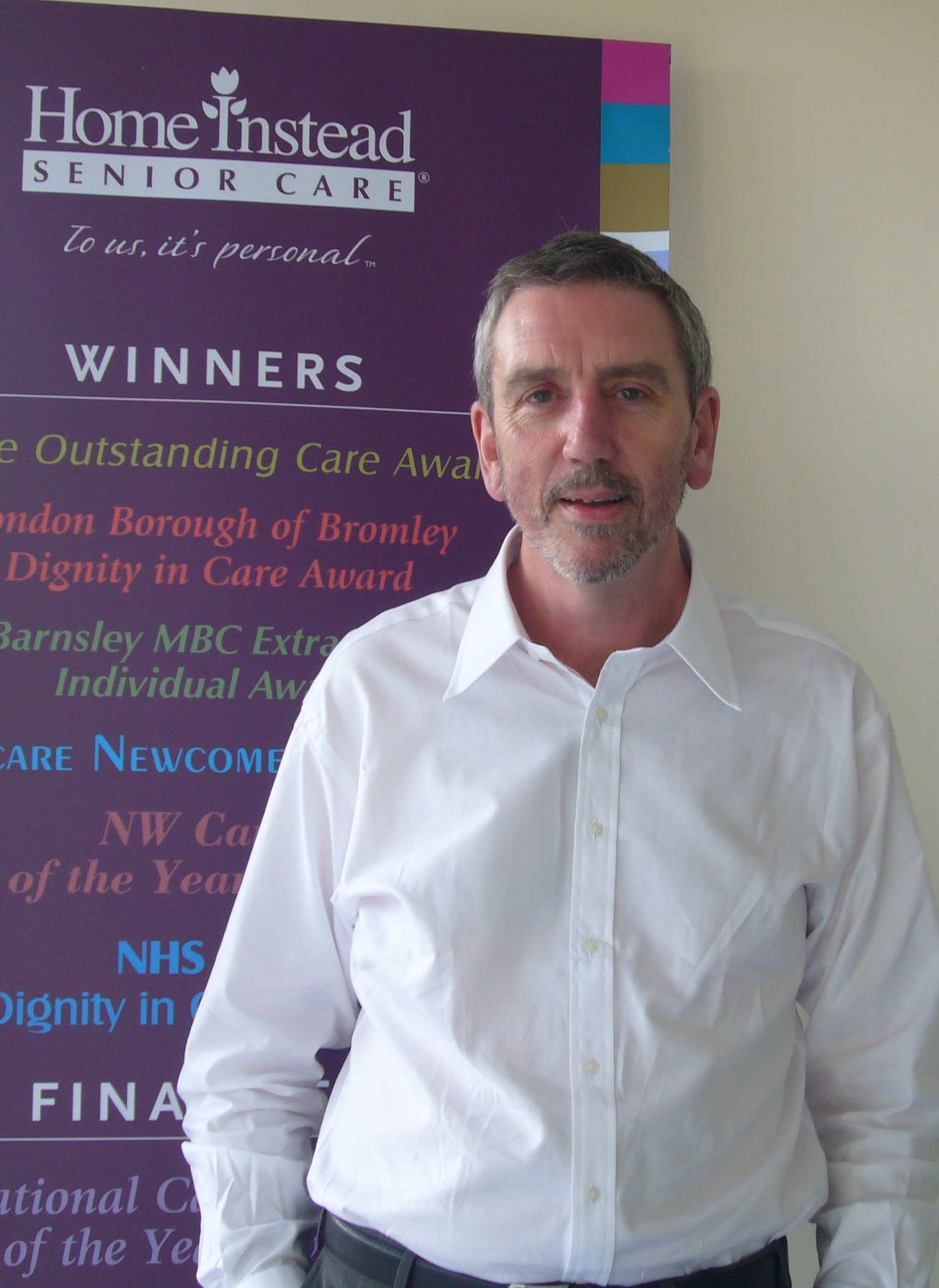 Former chartered accountant and new Home Instead owner, Peter Neighbour at his Watford office