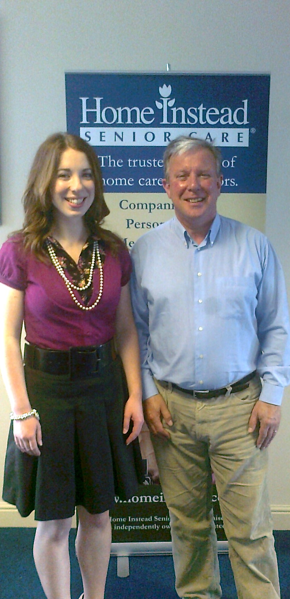Home Instead Chester young apprentice Heather Camron and her new boss, owner Chris Broadbent