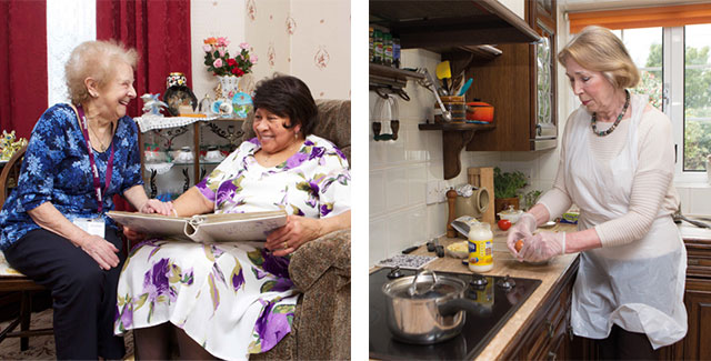 Home Instead CAREgivers Judi and June providing personal home care and assistance