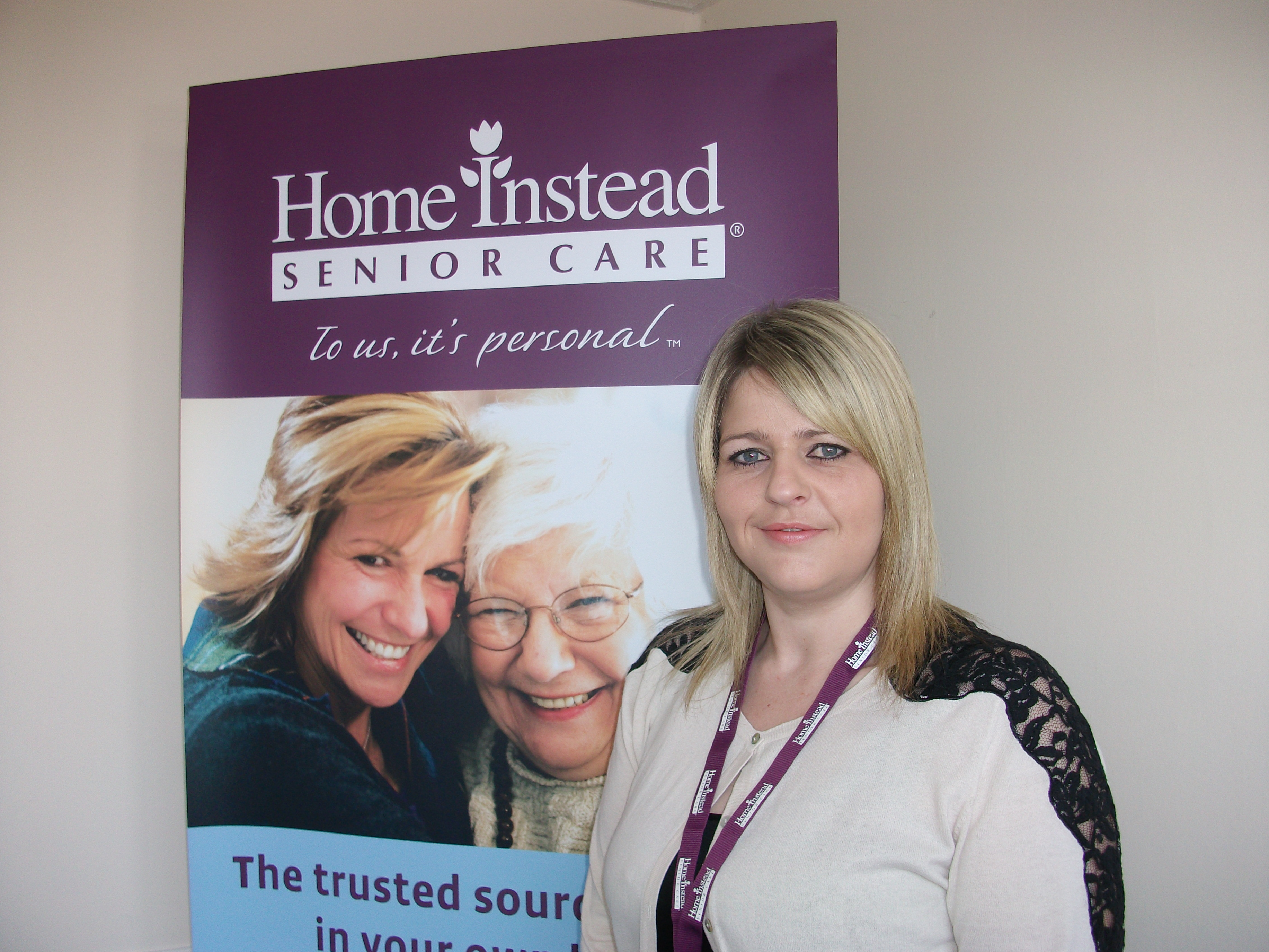 Home Instead Cannock newly appointed Care Manager Rebecca Steadman