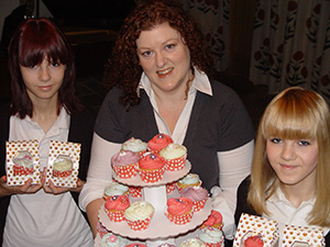 Home Instead Sutton Coldfield office team celebrating Older People's Day with baked treats