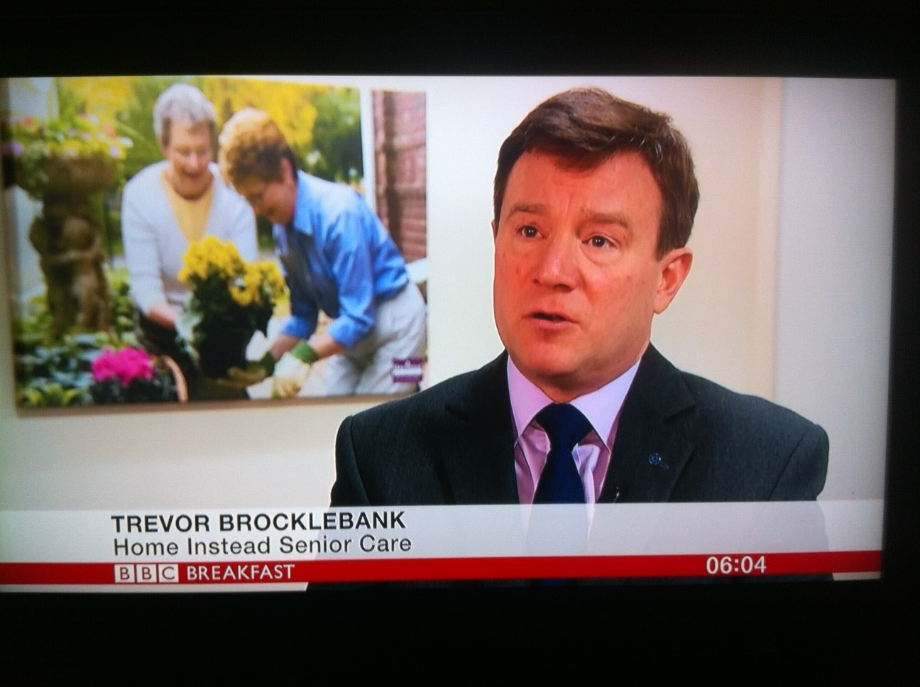 Home Instead Senior Care CEO Trevor Brocklebank on the BBC Breakfast programme