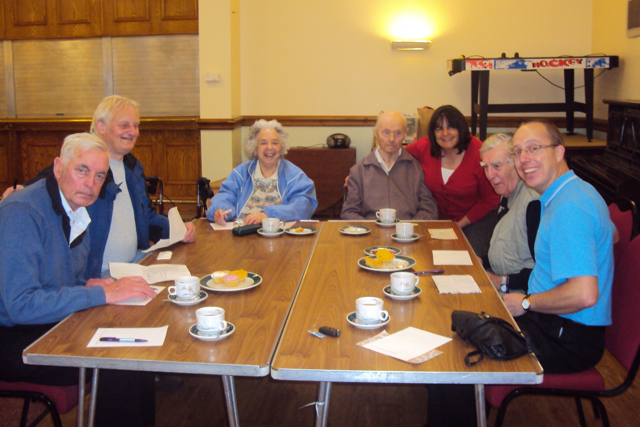 Home Instead Halton owner Neil Cook and attendees at the Tea, Laughter and Company event in Kingsley
