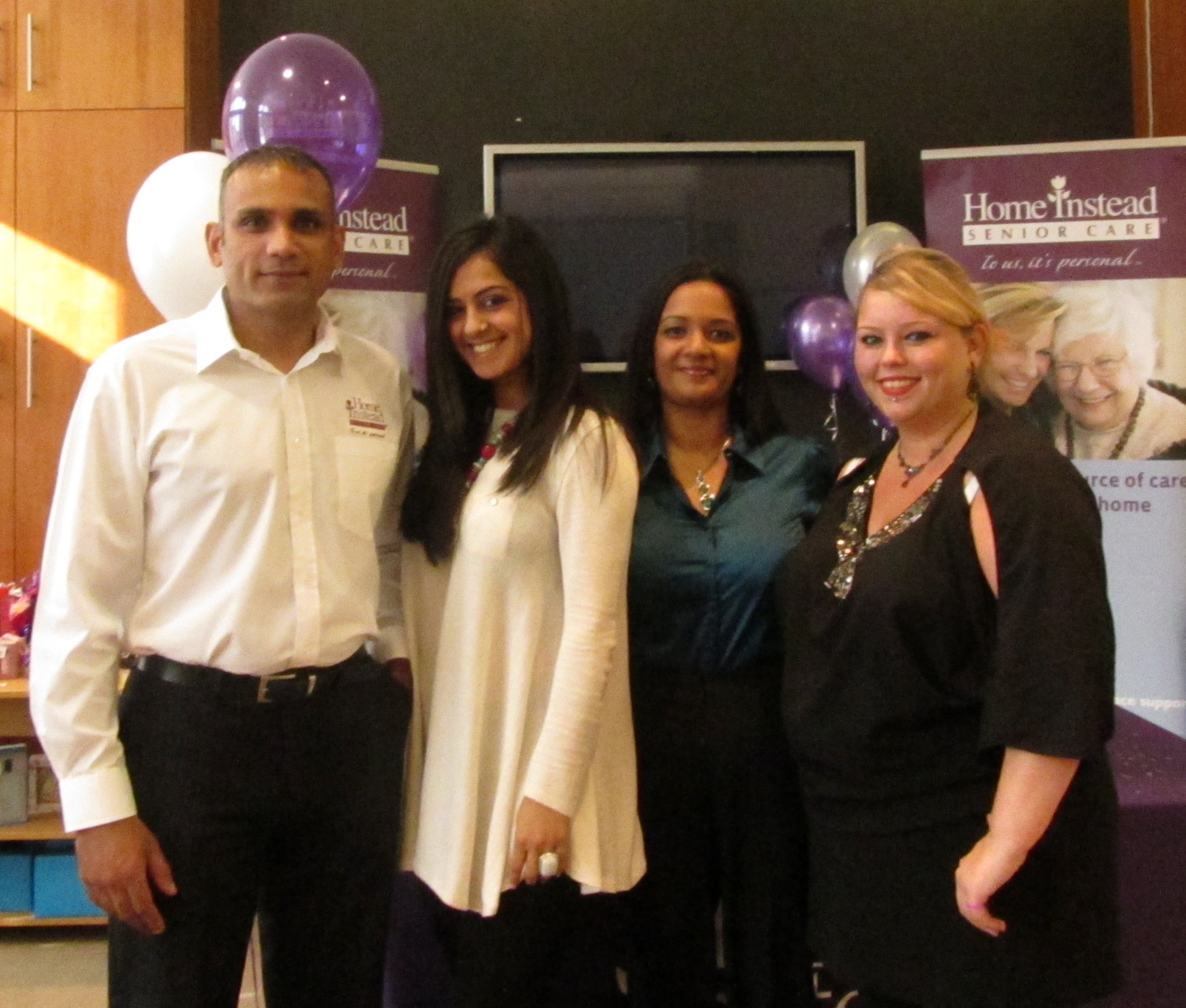 Home Instead Ealing owner Tony Hussein and team members at the company's open day