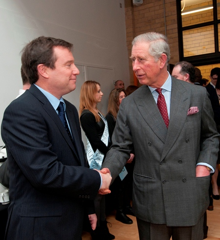 Home Instead Senior Care CEO Trevor Brocklebank meeting the Prince of Wales
