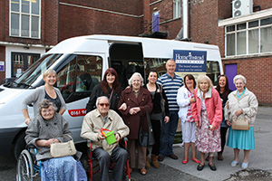 Home Instead Stockport team members and clients going on a trip to Blackpool