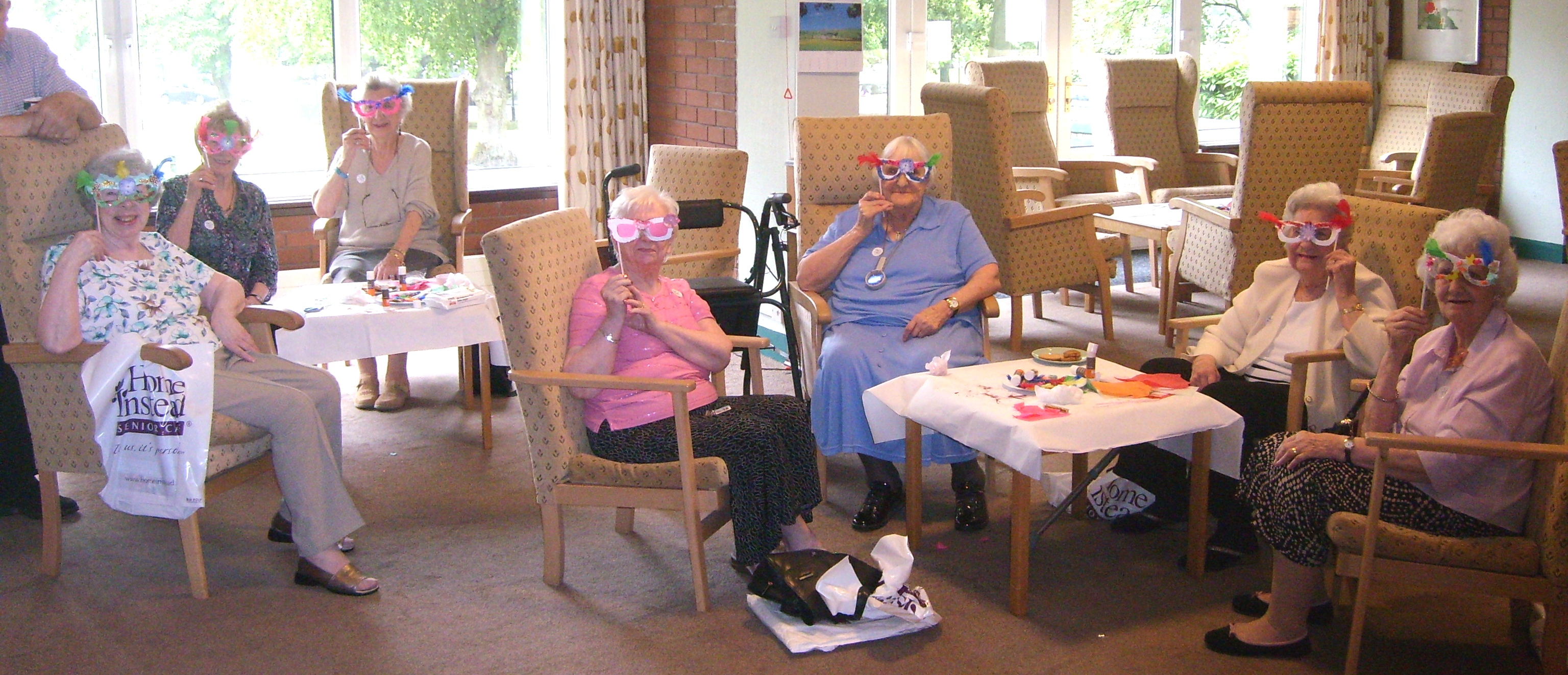 Residents at Montpellier Court in Harrogate at an informative craft event hosted by Home Instead