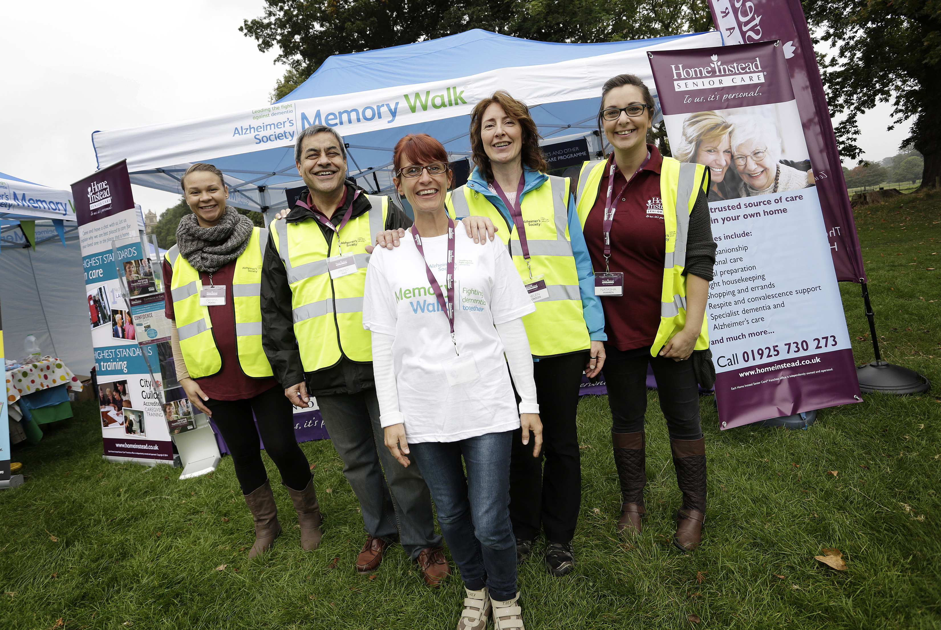 Home Instead team at the Nottingham Memory Walk