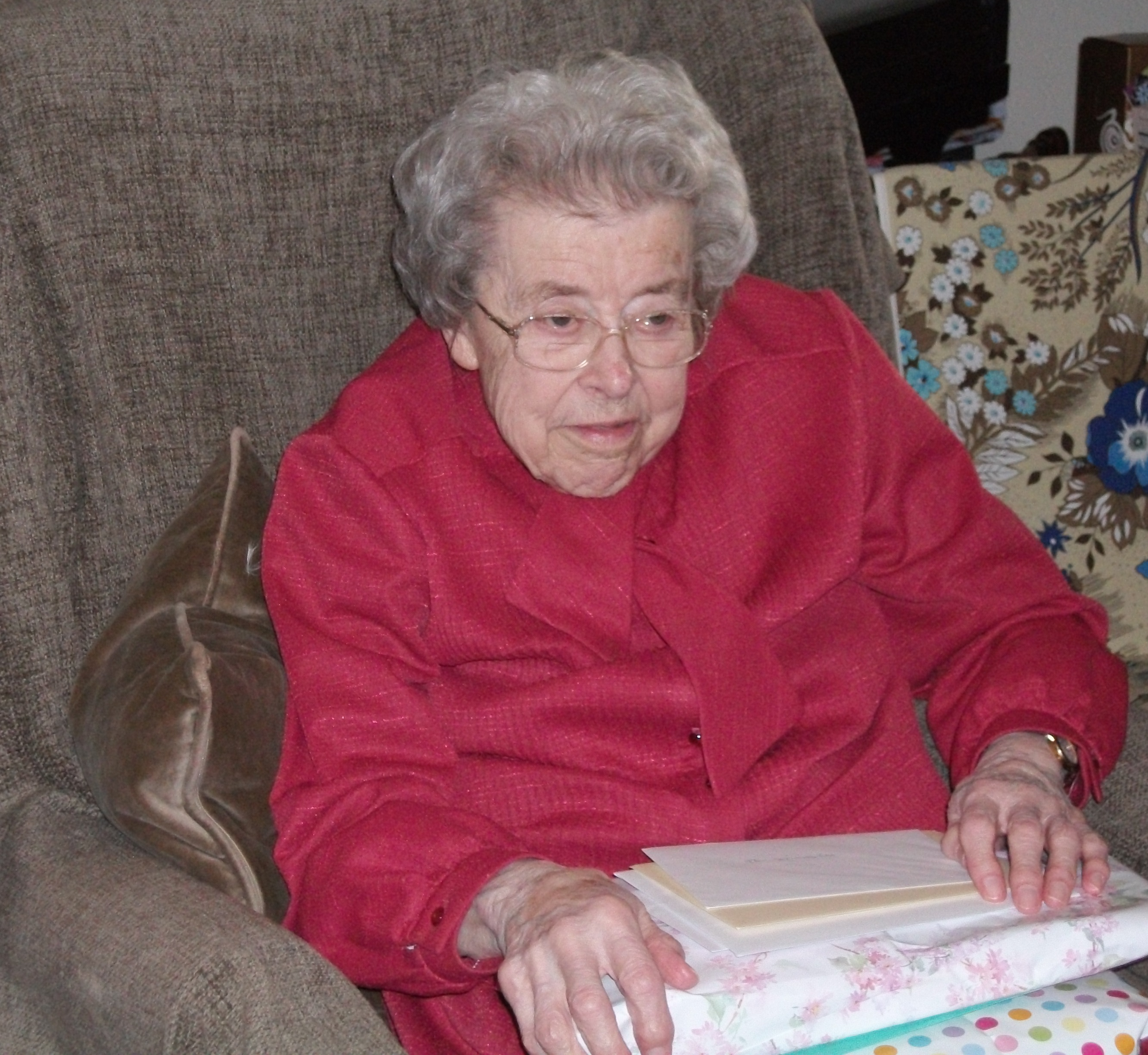 Elderly home care client Winifred Wyman